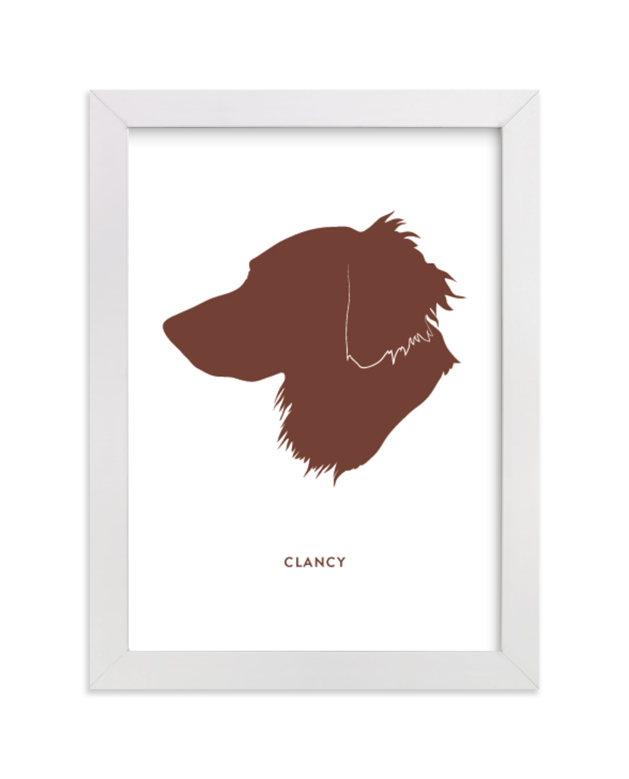 """""""Custom Pet Silhouette Art"""" - Silhouette Digital Art by Minted in beautiful frame options and a variety of sizes."""