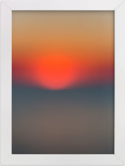 This is a blue art by Helen Makadia Photography called The Sun Also Sets.
