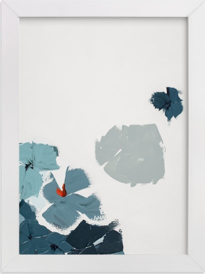 This is a blue art by Caryn Owen called Blue Garden Diptych I.