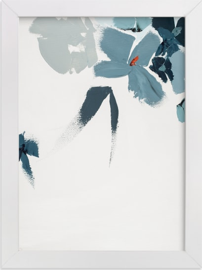 This is a blue art by Caryn Owen called Blue Garden Diptych II.
