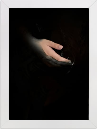 This is a black art by Gabriela Klafke called hold my hand.