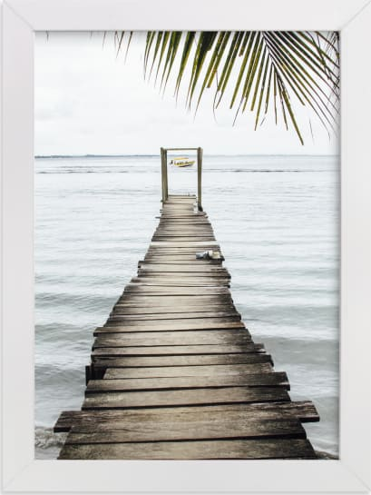 This is a blue art by Kaitlin Rebesco called bocas del toro.