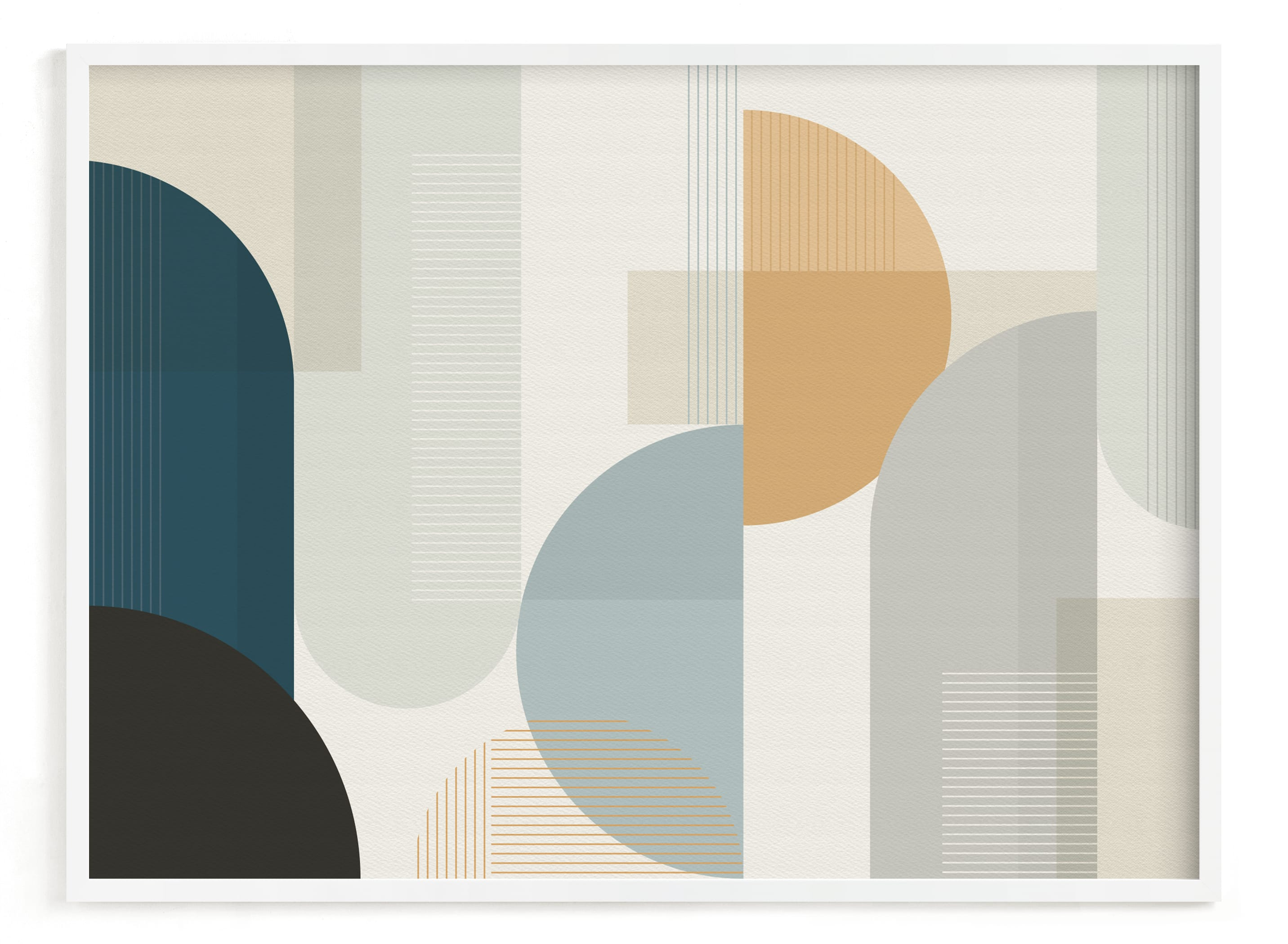 """""""Shuffle Series Downtown"""" - Art Print by Jennifer Morehead in beautiful frame options and a variety of sizes."""