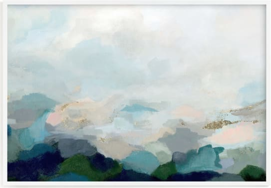 This is a blue art by Nicole Walsh called Lifting Fog.