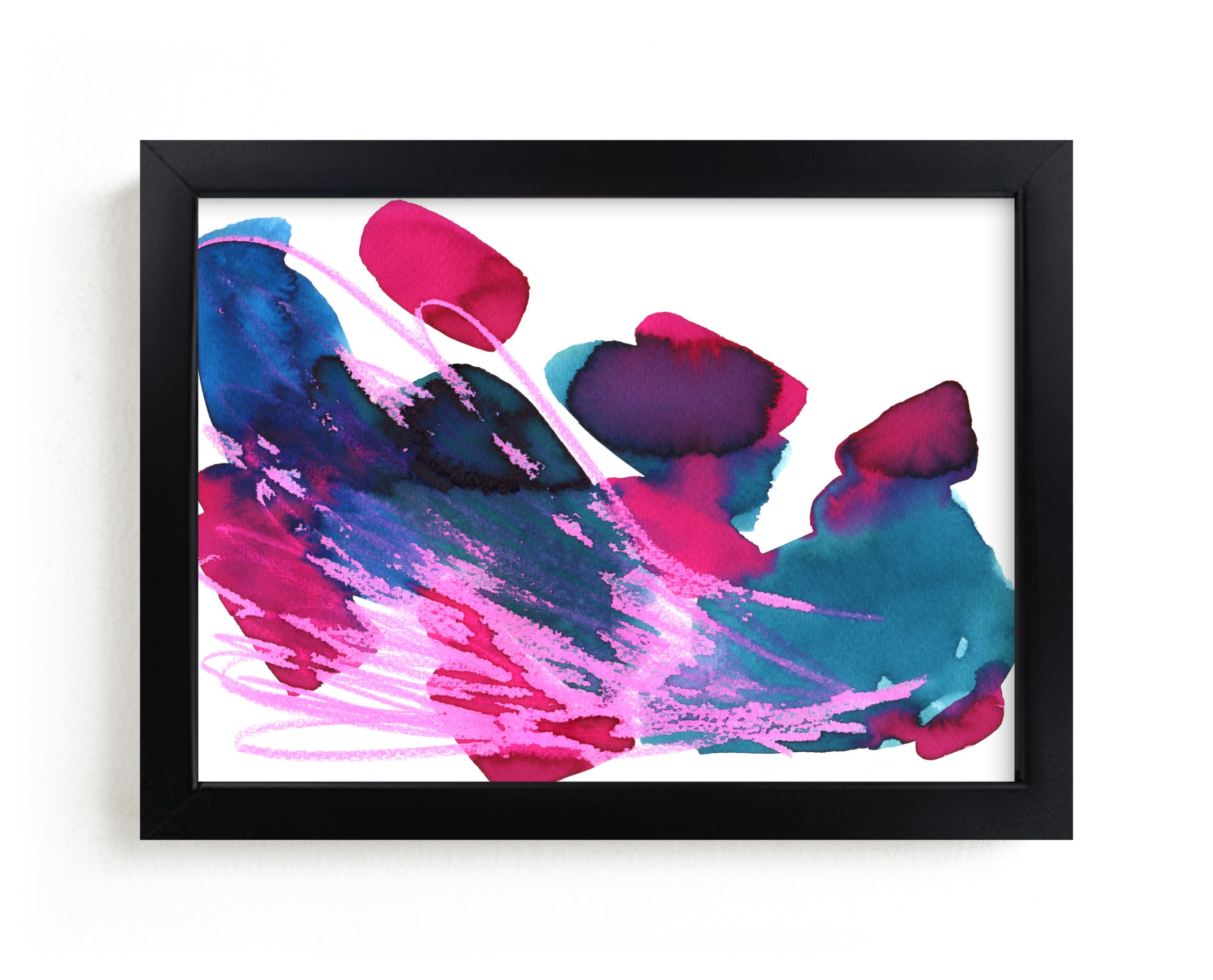 """""""Abstract vibrant watercolor"""" - Limited Edition Art Print by Alexandra Dzh in beautiful frame options and a variety of sizes."""