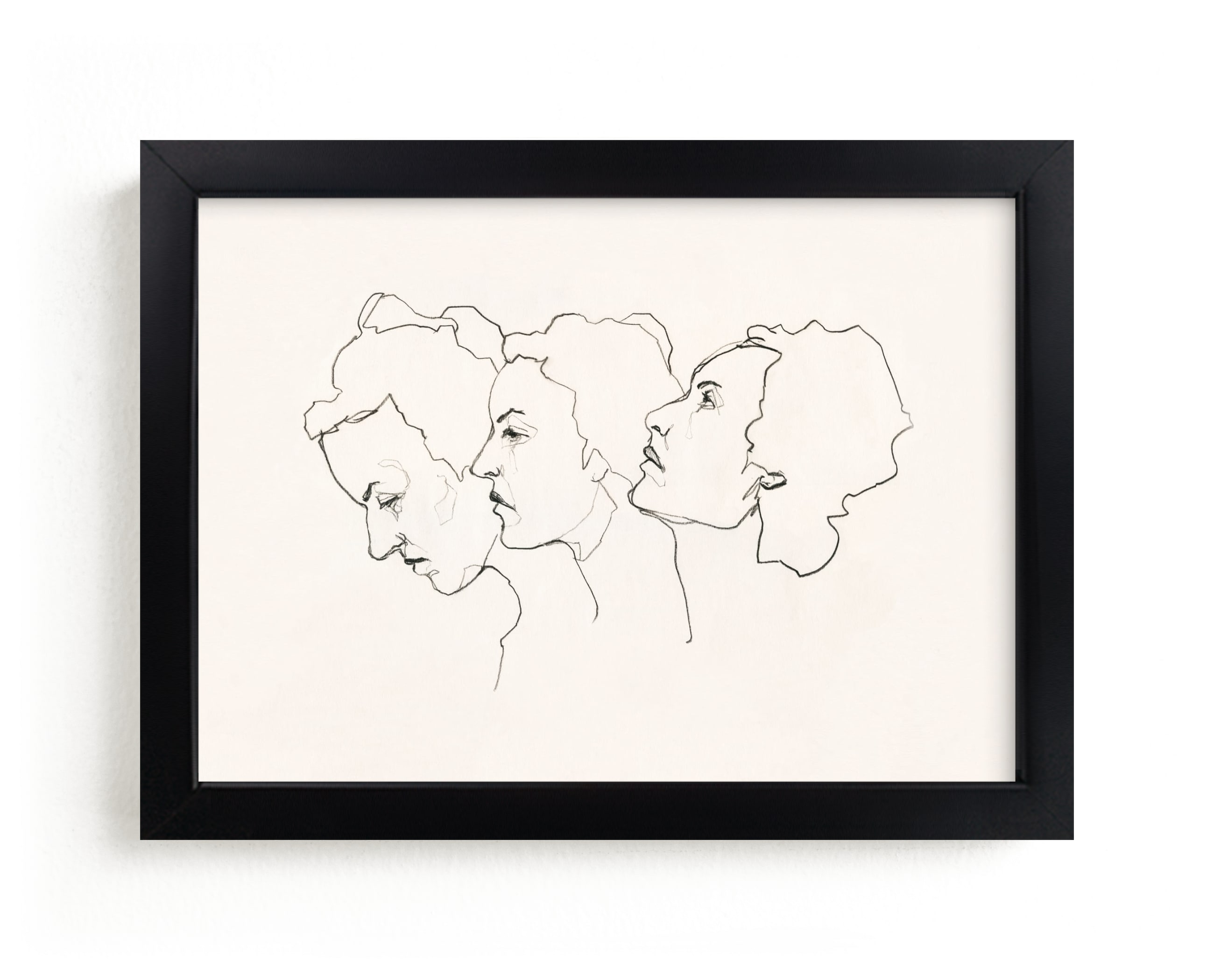 """""""Three Faces"""" - Limited Edition Art Print by Kirsta Benedetti in beautiful frame options and a variety of sizes."""