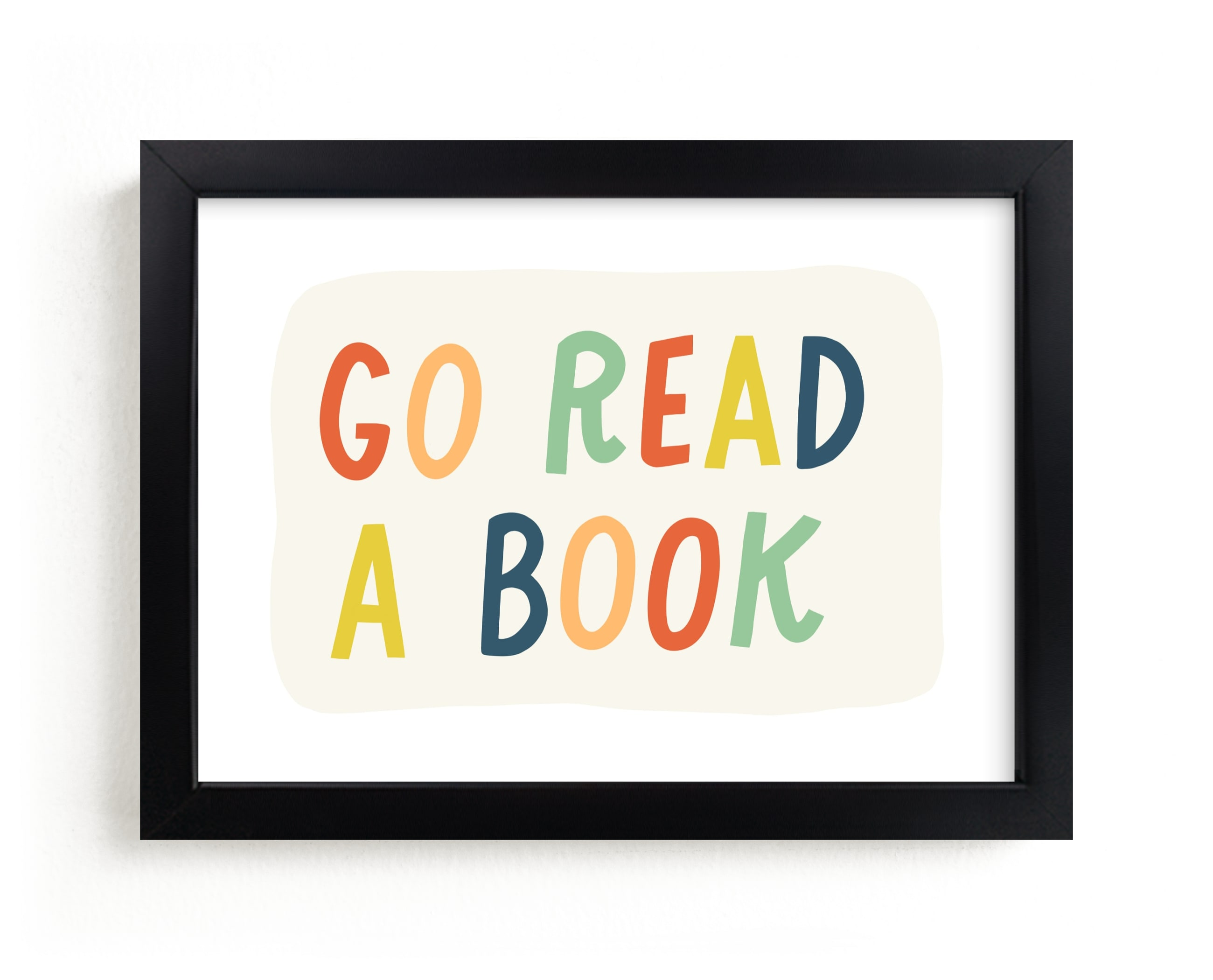 """""""Go Read a Book"""" - Limited Edition Art Print by Rachel K. Swanson in beautiful frame options and a variety of sizes."""
