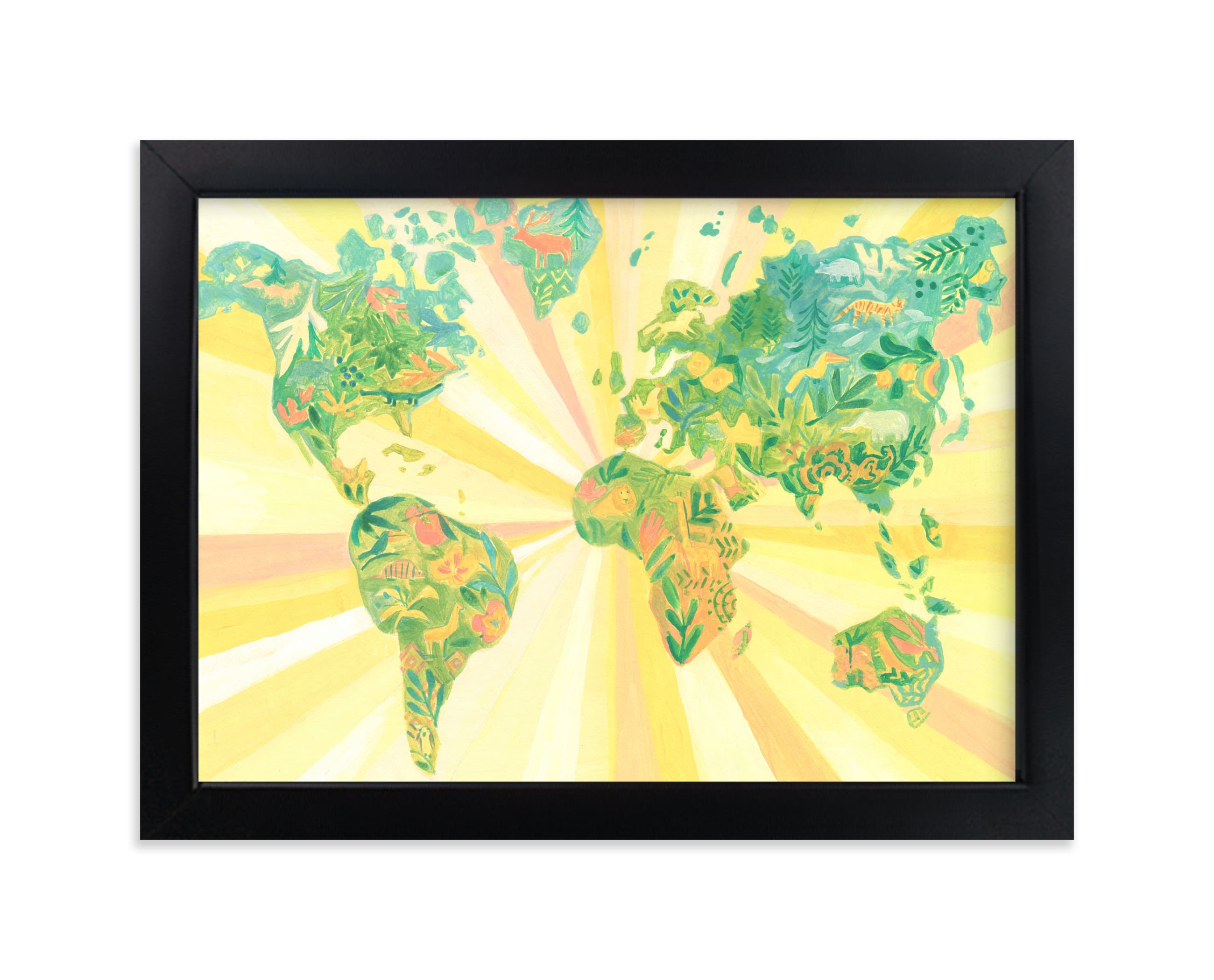 """World of Wonder"" - Art Print by Rebecca Daublin in beautiful frame options and a variety of sizes."