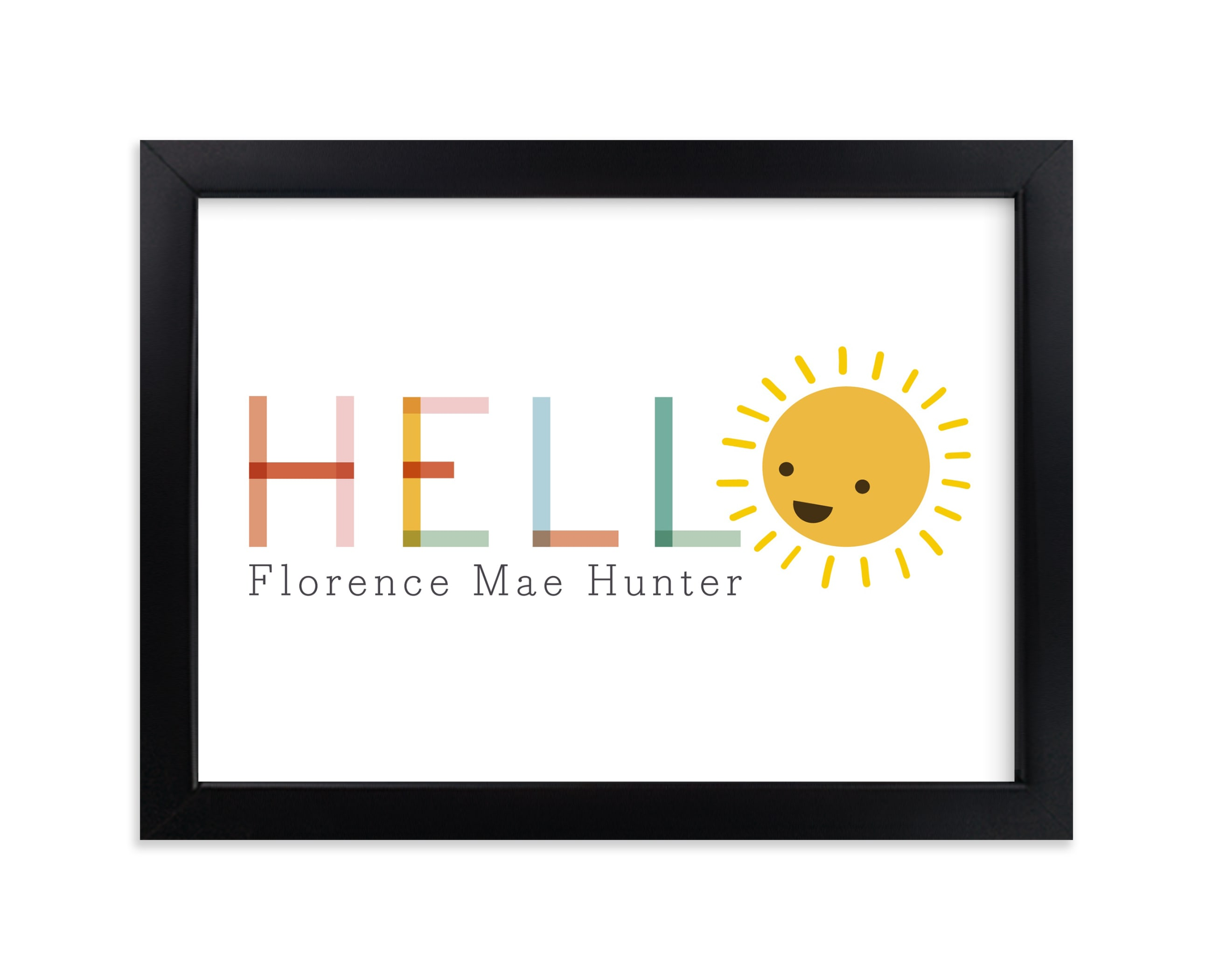 """Sunny"" - Nursery Custom Art Print by Caitlin Considine in beautiful frame options and a variety of sizes."