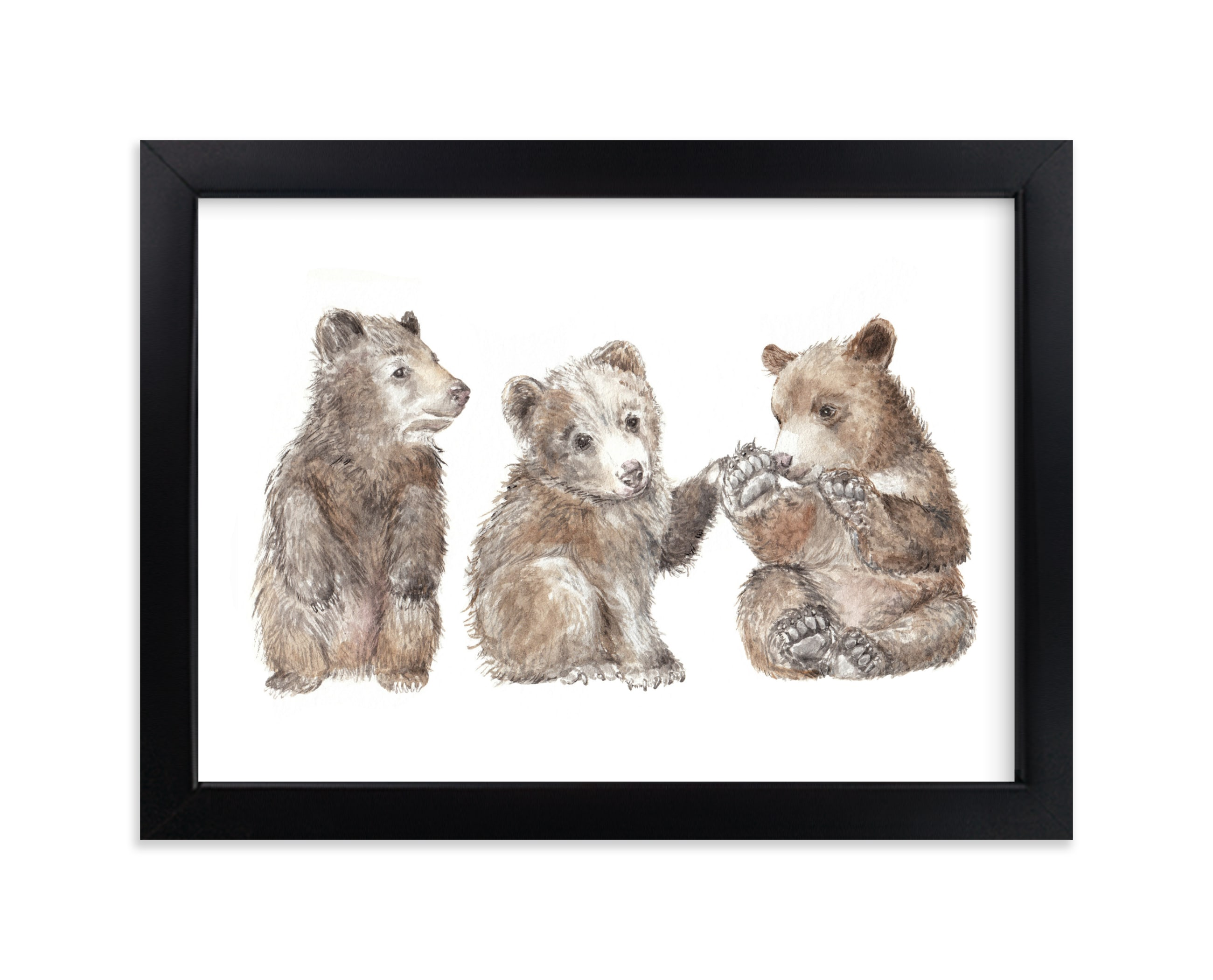 """""""Three Little Bears"""" - Limited Edition Art Print by Lauren Rogoff in beautiful frame options and a variety of sizes."""