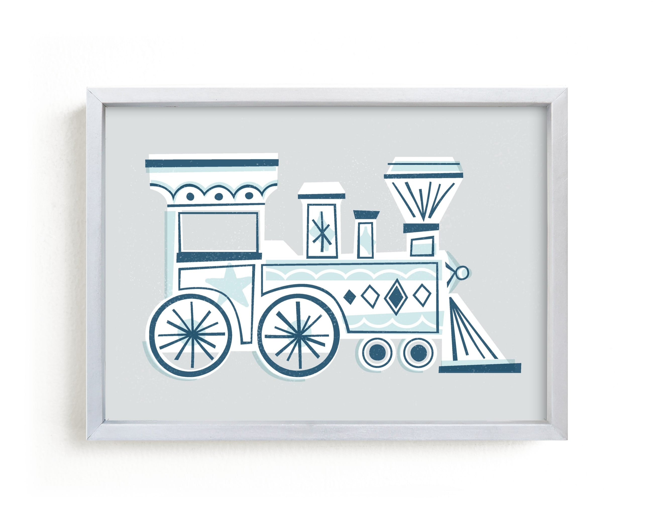 """Terrific Train"" - Limited Edition Art Print by Jessie Steury in beautiful frame options and a variety of sizes."