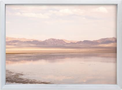 This is a blue art by jessi gilbert called desert lake.