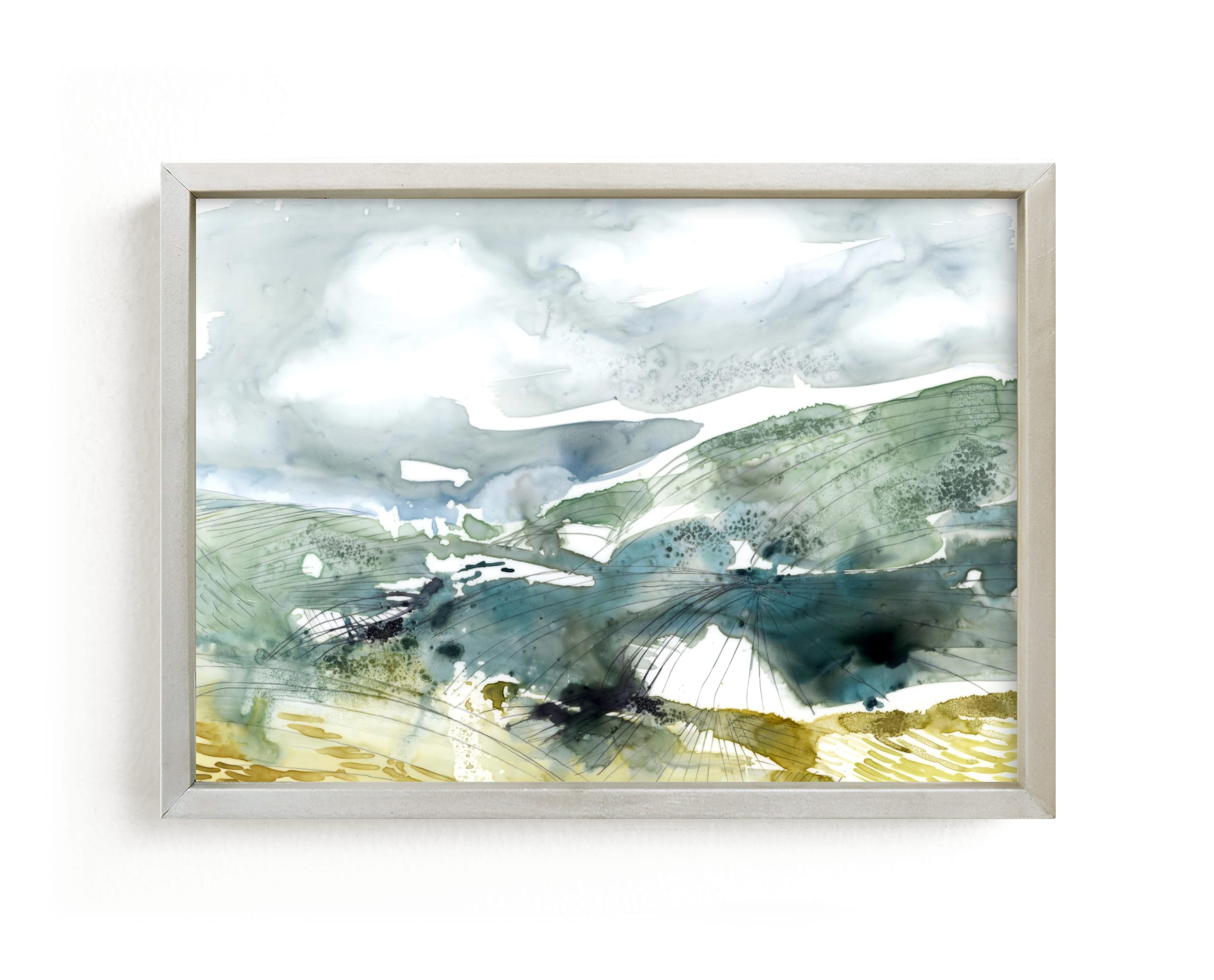 """""""Valley"""" - Limited Edition Art Print by Kelly Ventura in beautiful frame options and a variety of sizes."""