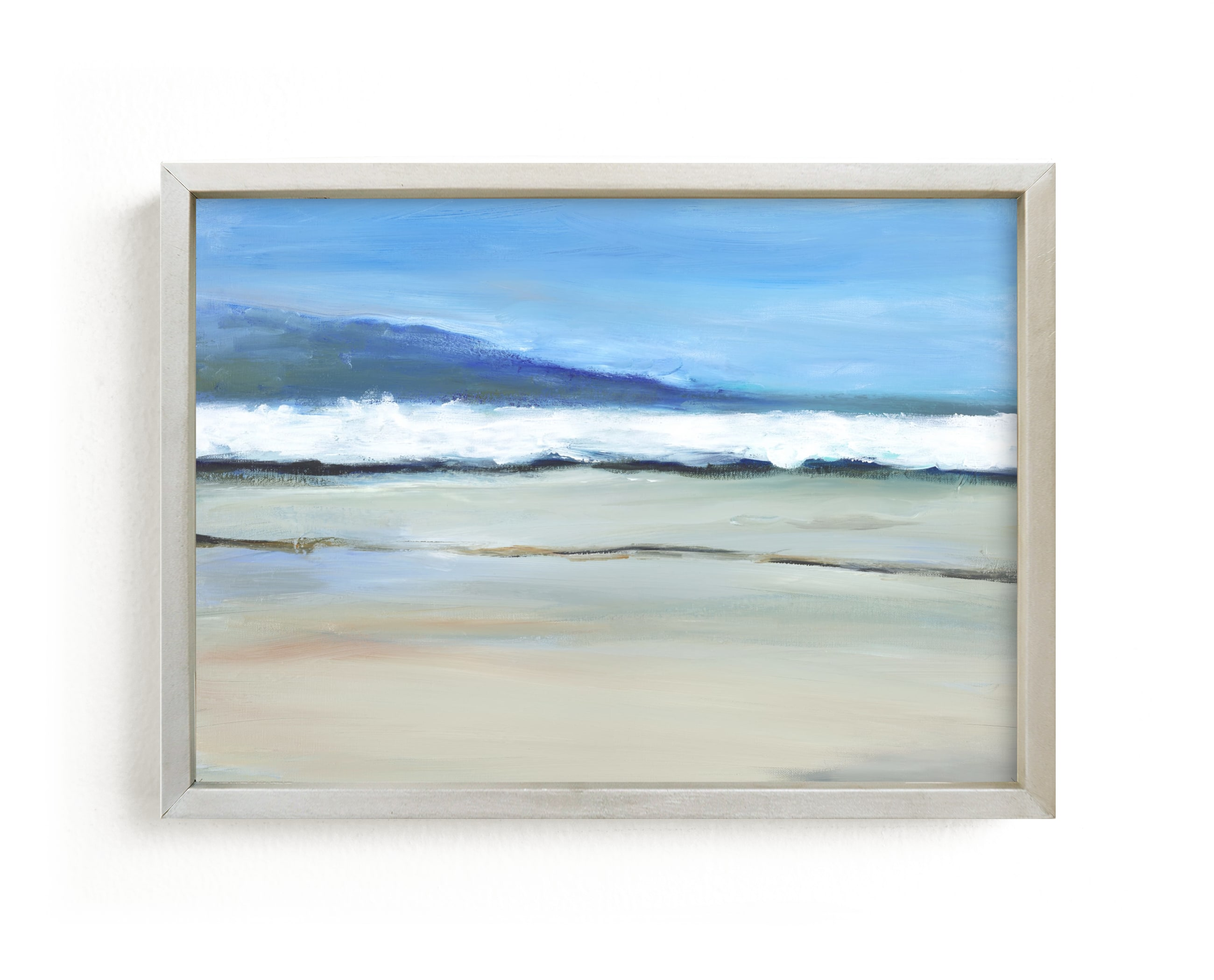 """""""Neutral Coast"""" - Limited Edition Art Print by Jenny Partrite in beautiful frame options and a variety of sizes."""