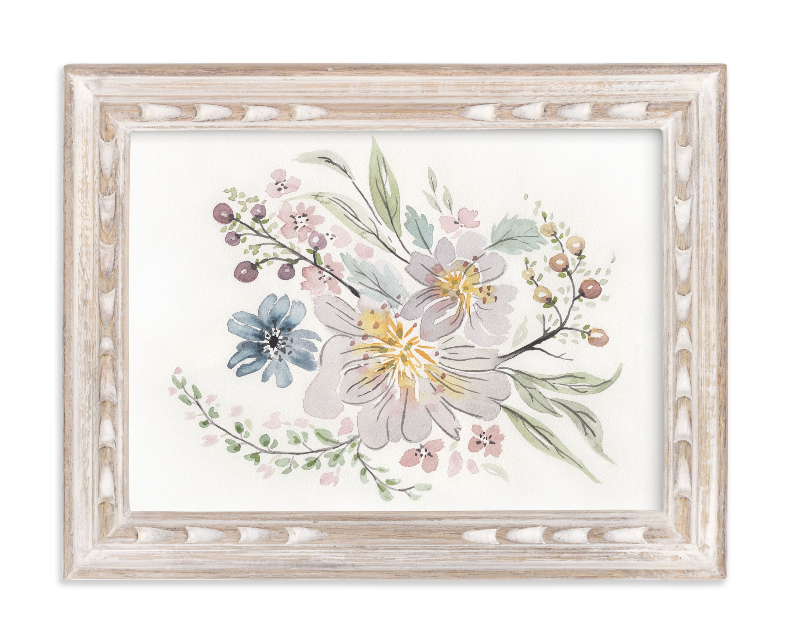 """""""Muted Watercolor Bouquet"""" - Limited Edition Art Print by Becky Nimoy in beautiful frame options and a variety of sizes."""