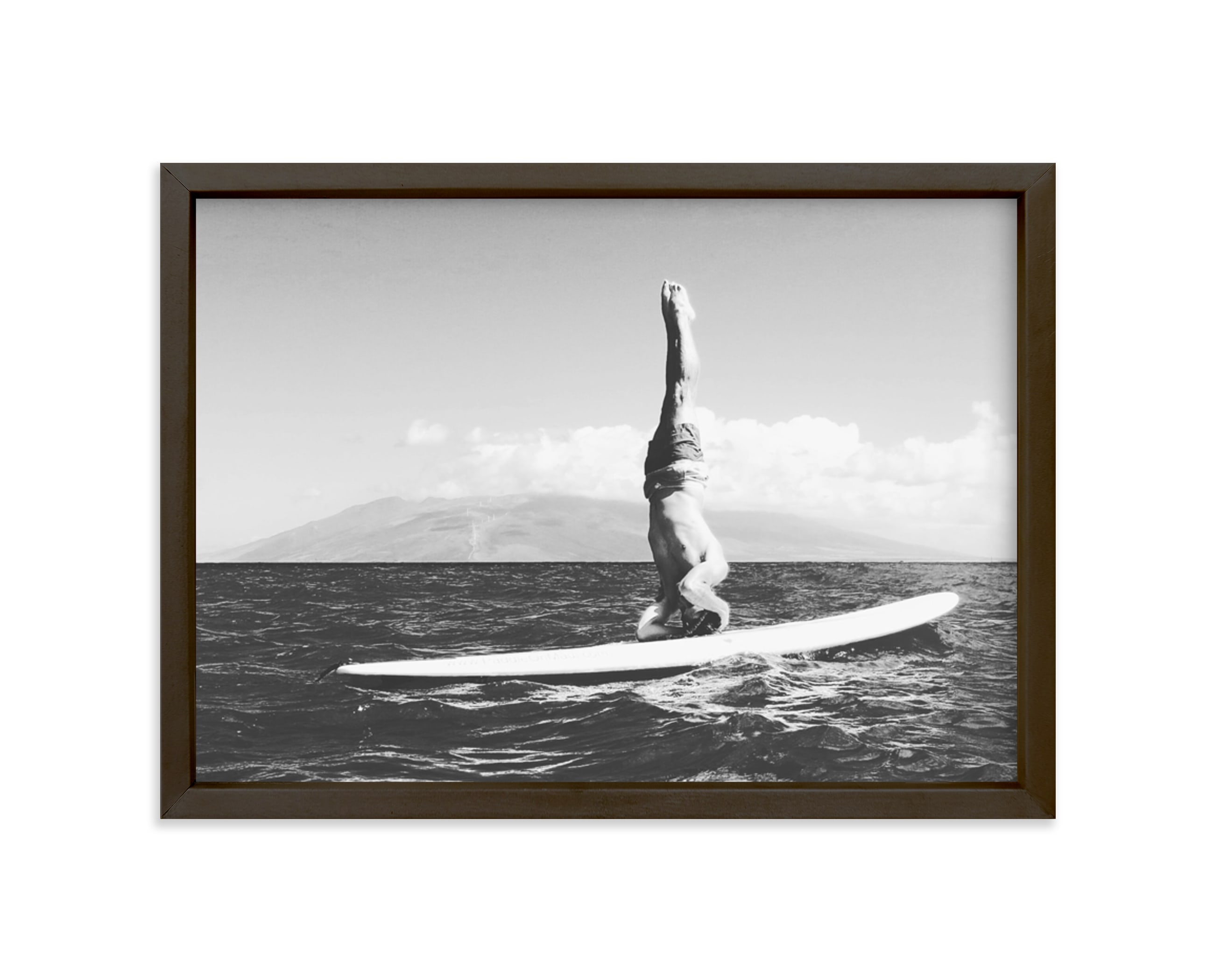 """Island Yogi"" - Limited Edition Art Print by Amanda Phelps in beautiful frame options and a variety of sizes."