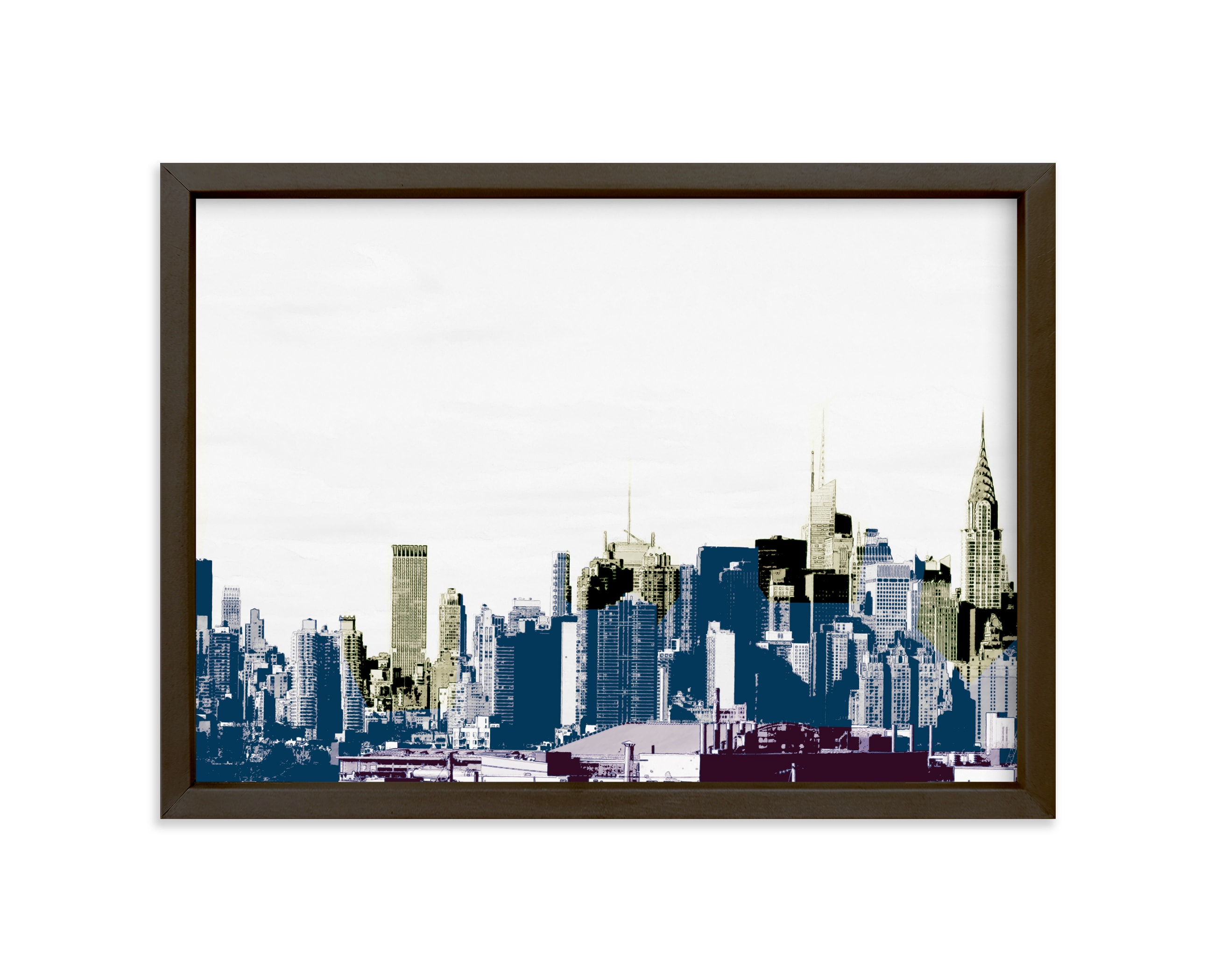 """""""layers of skyline"""" - Limited Edition Art Print by van tsao in beautiful frame options and a variety of sizes."""