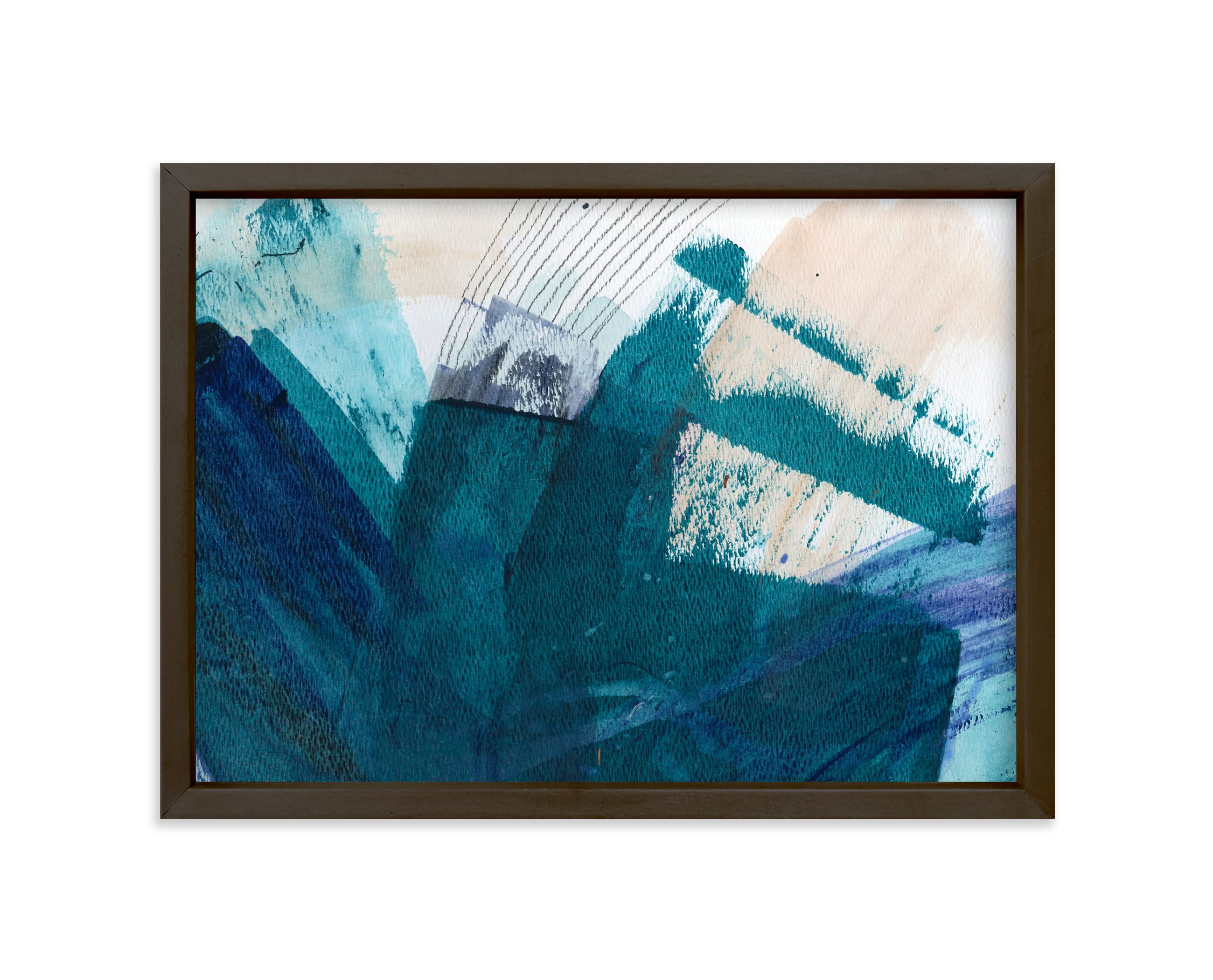 """Landscape By the Sea"" - Art Print by Lauren Packard in beautiful frame options and a variety of sizes."
