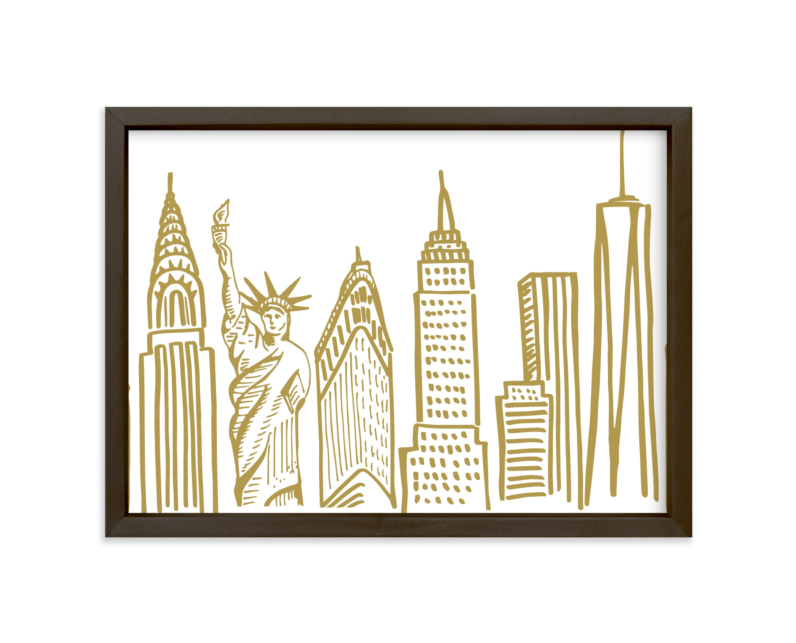 """""""New York City Scape"""" - Art Print by Abby Munn in beautiful frame options and a variety of sizes."""