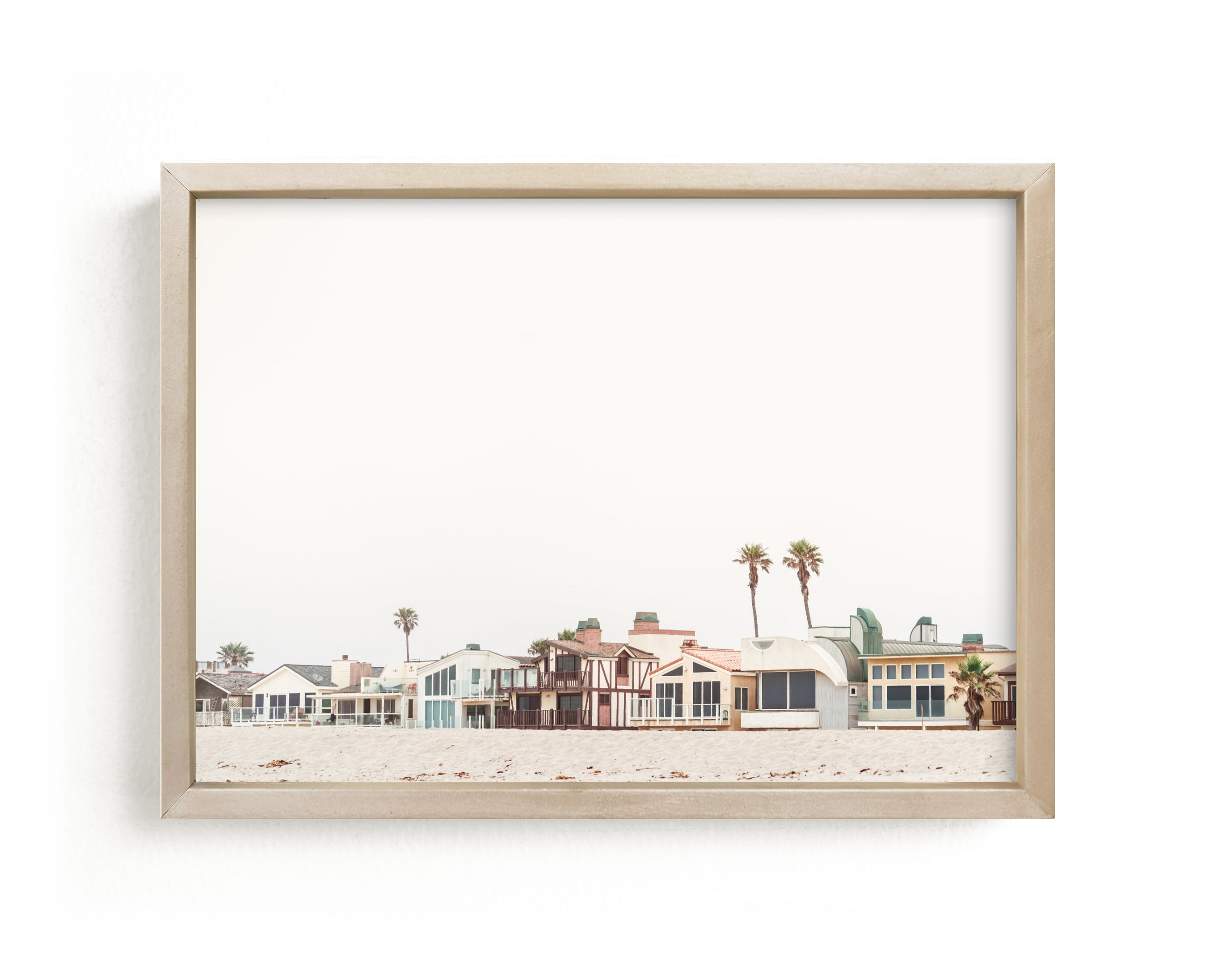 """""""Beach Houses"""" - Limited Edition Art Print by Kamala Nahas in beautiful frame options and a variety of sizes."""
