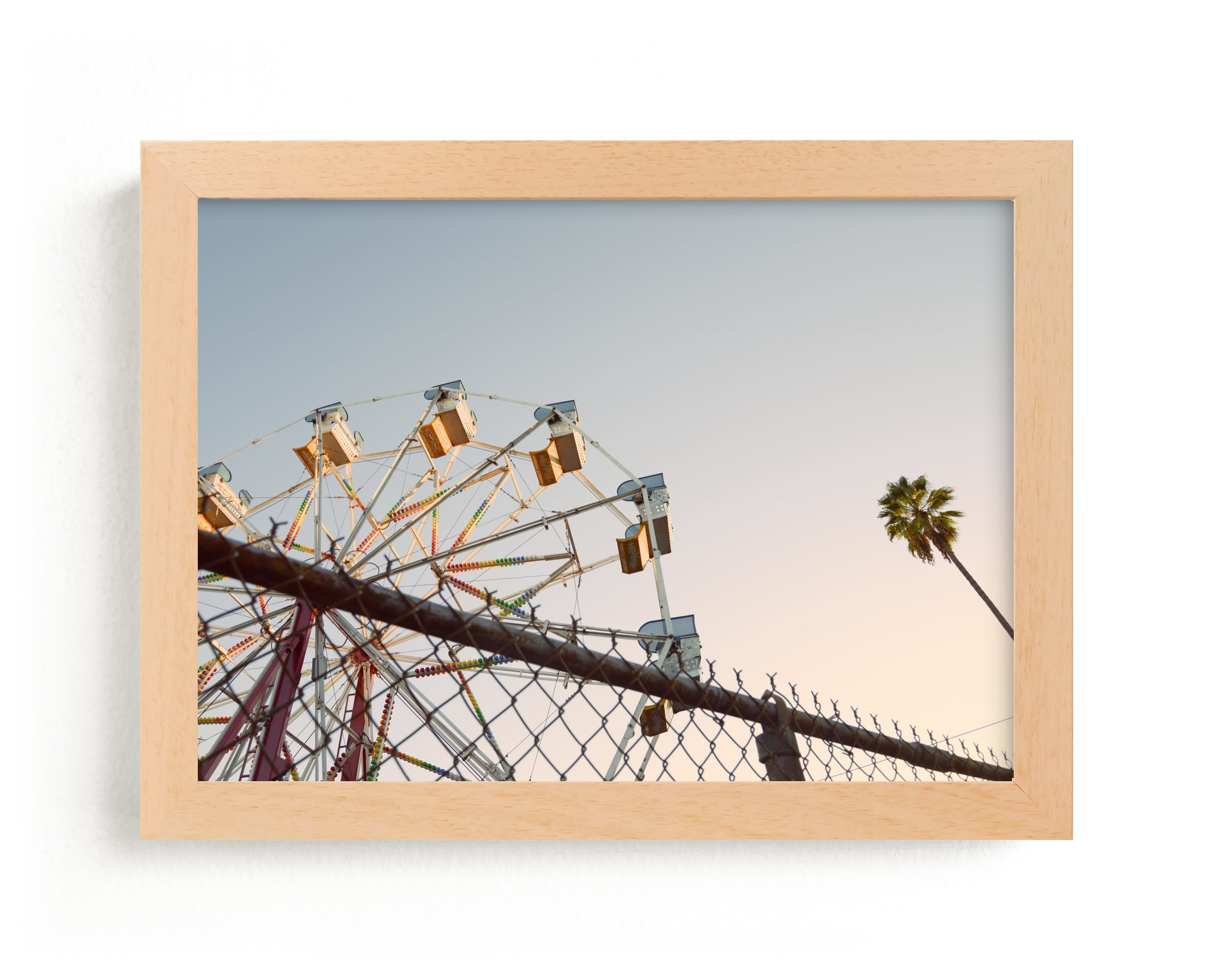 """""""LA Sky"""" - Limited Edition Art Print by Kitty Seeber in beautiful frame options and a variety of sizes."""