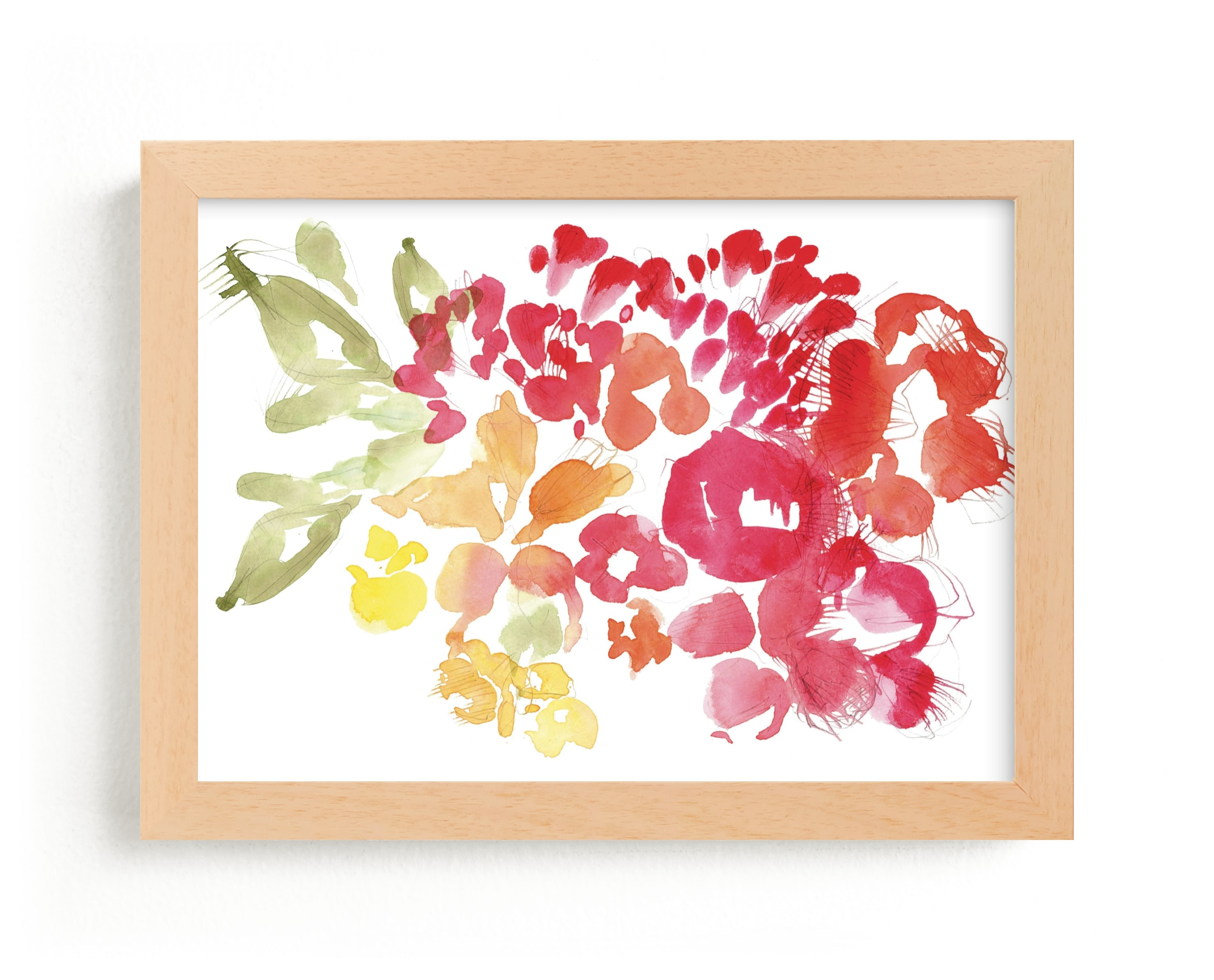 """""""Fresh Floral"""" - Limited Edition Art Print by Kelly Ventura in beautiful frame options and a variety of sizes."""