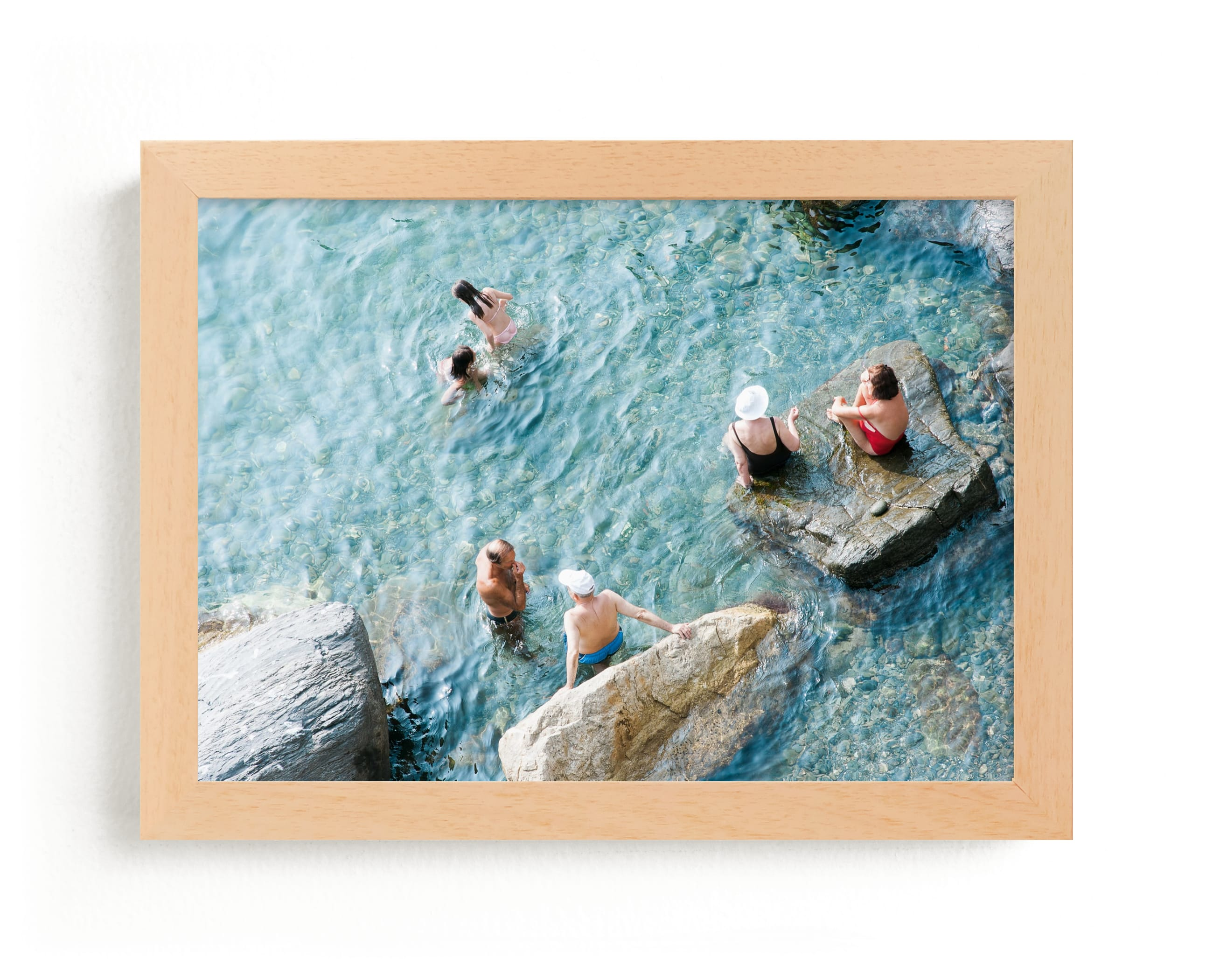 """Sunbathers"" - Limited Edition Art Print by Jennifer Jacobson in beautiful frame options and a variety of sizes."