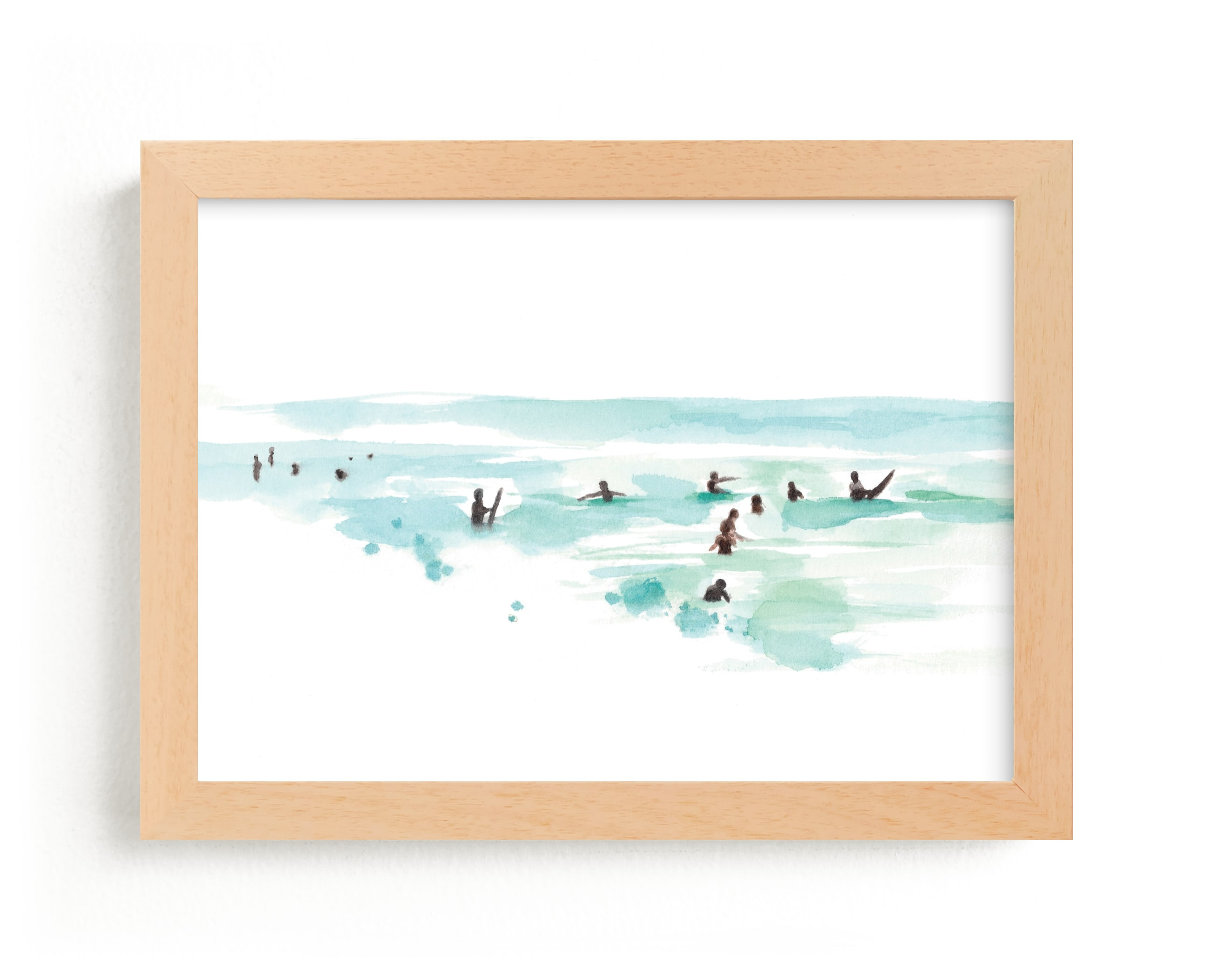"""""""Surf City"""" - Limited Edition Art Print by Jenny Partrite in beautiful frame options and a variety of sizes."""