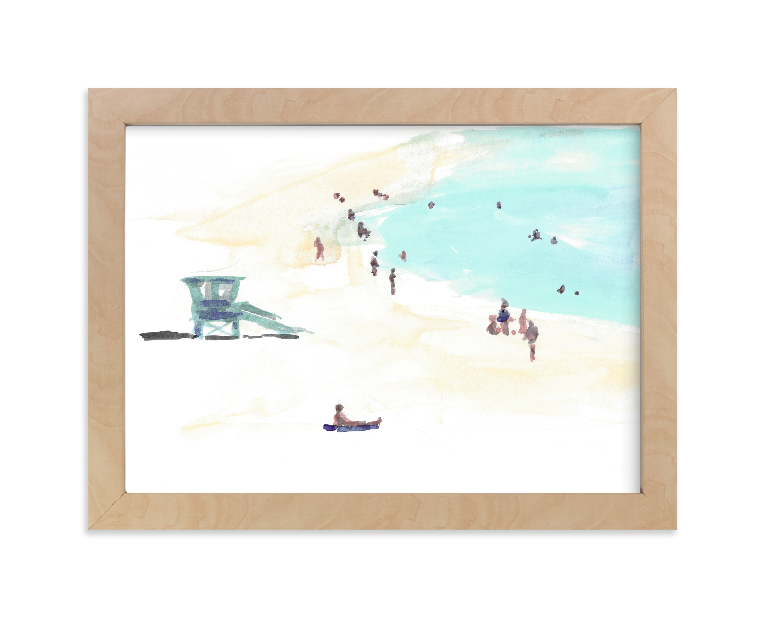 """""""Surf City 2"""" - Limited Edition Art Print by Jenny Partrite in beautiful frame options and a variety of sizes."""