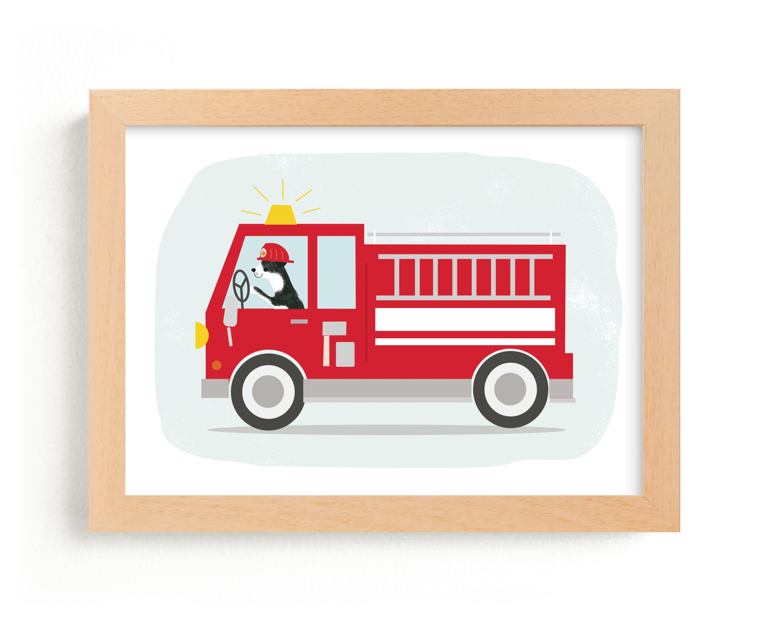 """Fire Rescue"" - Limited Edition Art Print by Itsy Belle Studio in beautiful frame options and a variety of sizes."