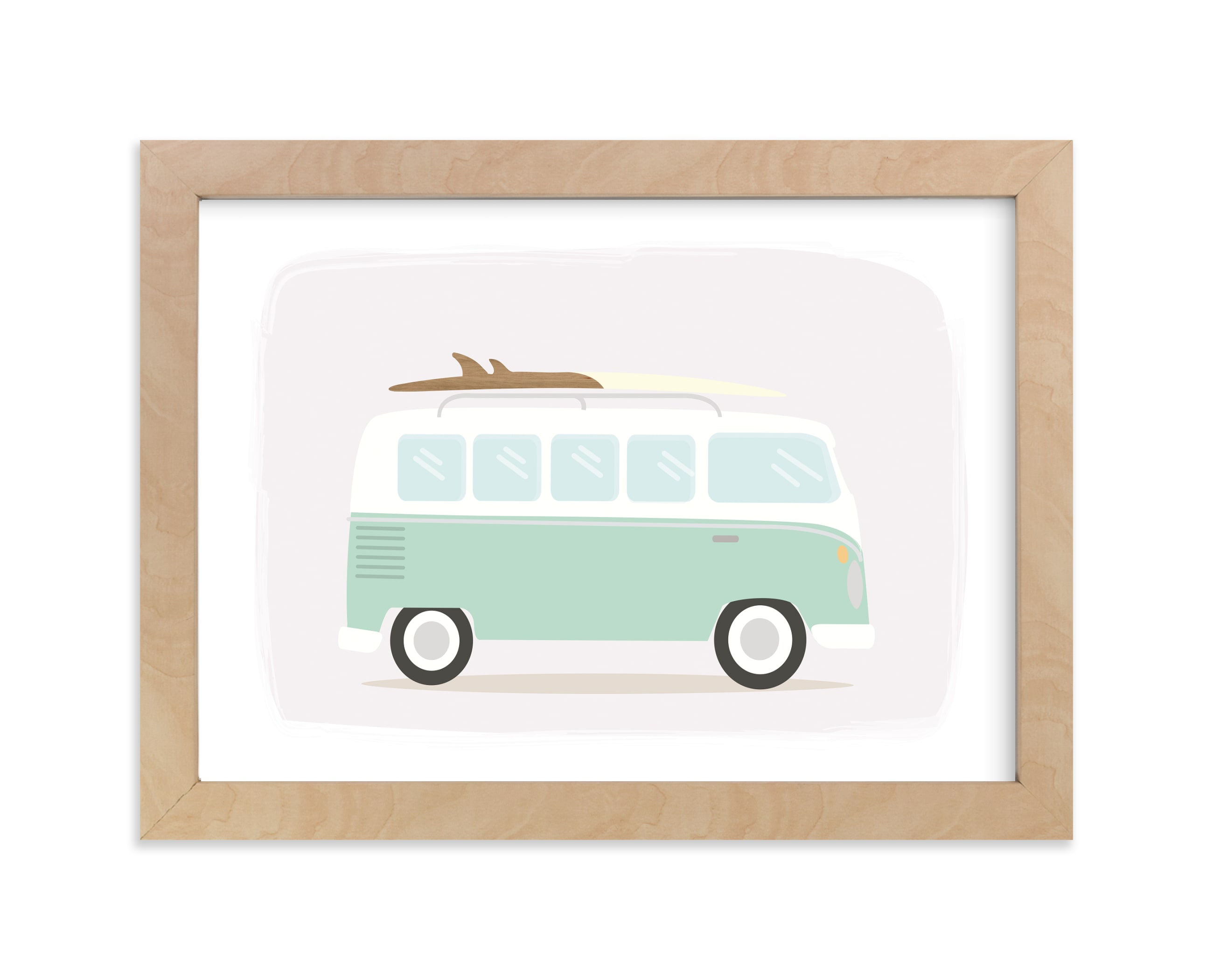 """""""Surf Bus"""" - Art Print by Itsy Belle Studio in beautiful frame options and a variety of sizes."""