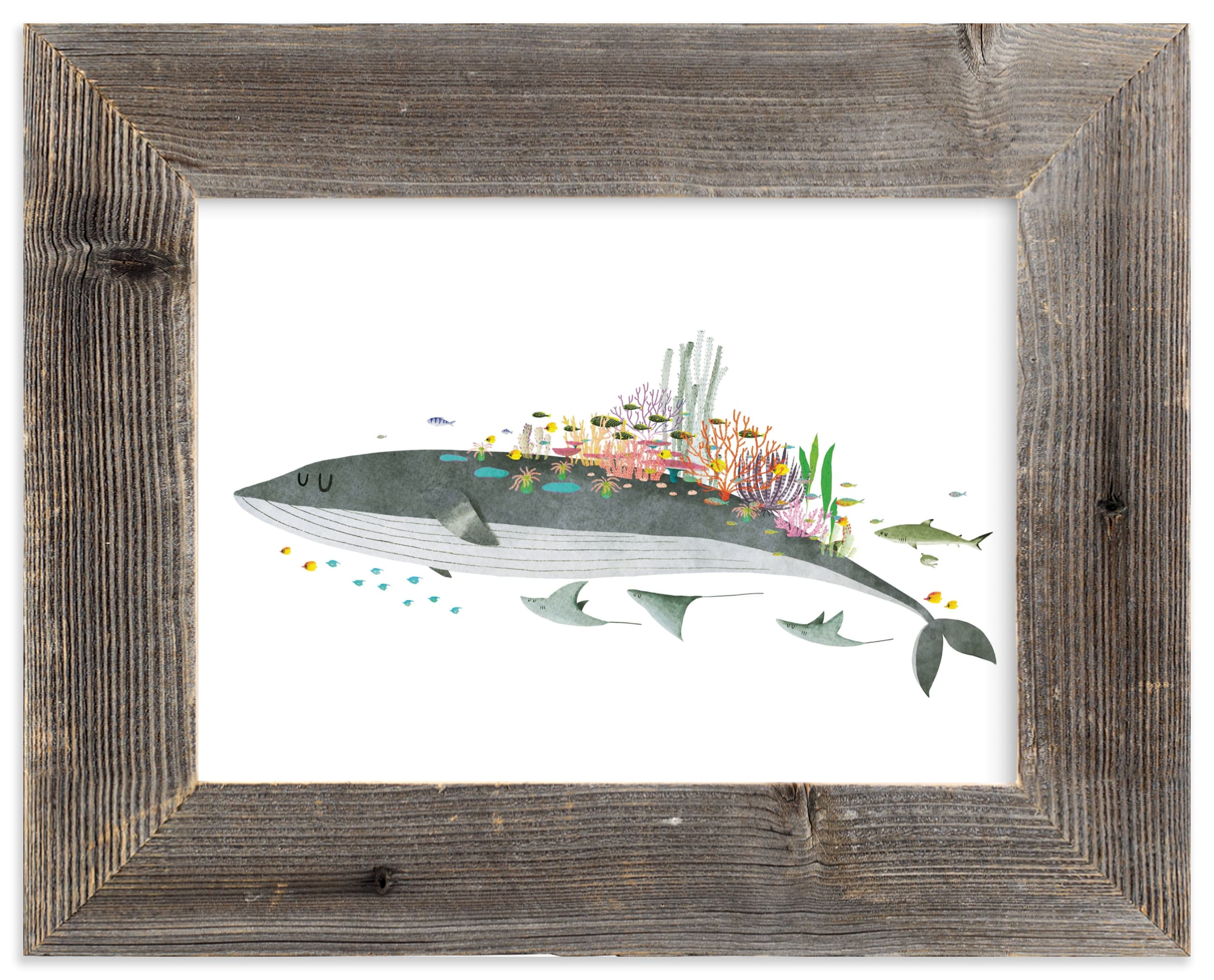 """""""Great Barrier Reef"""" - Limited Edition Art Print by Jiny He in beautiful frame options and a variety of sizes."""