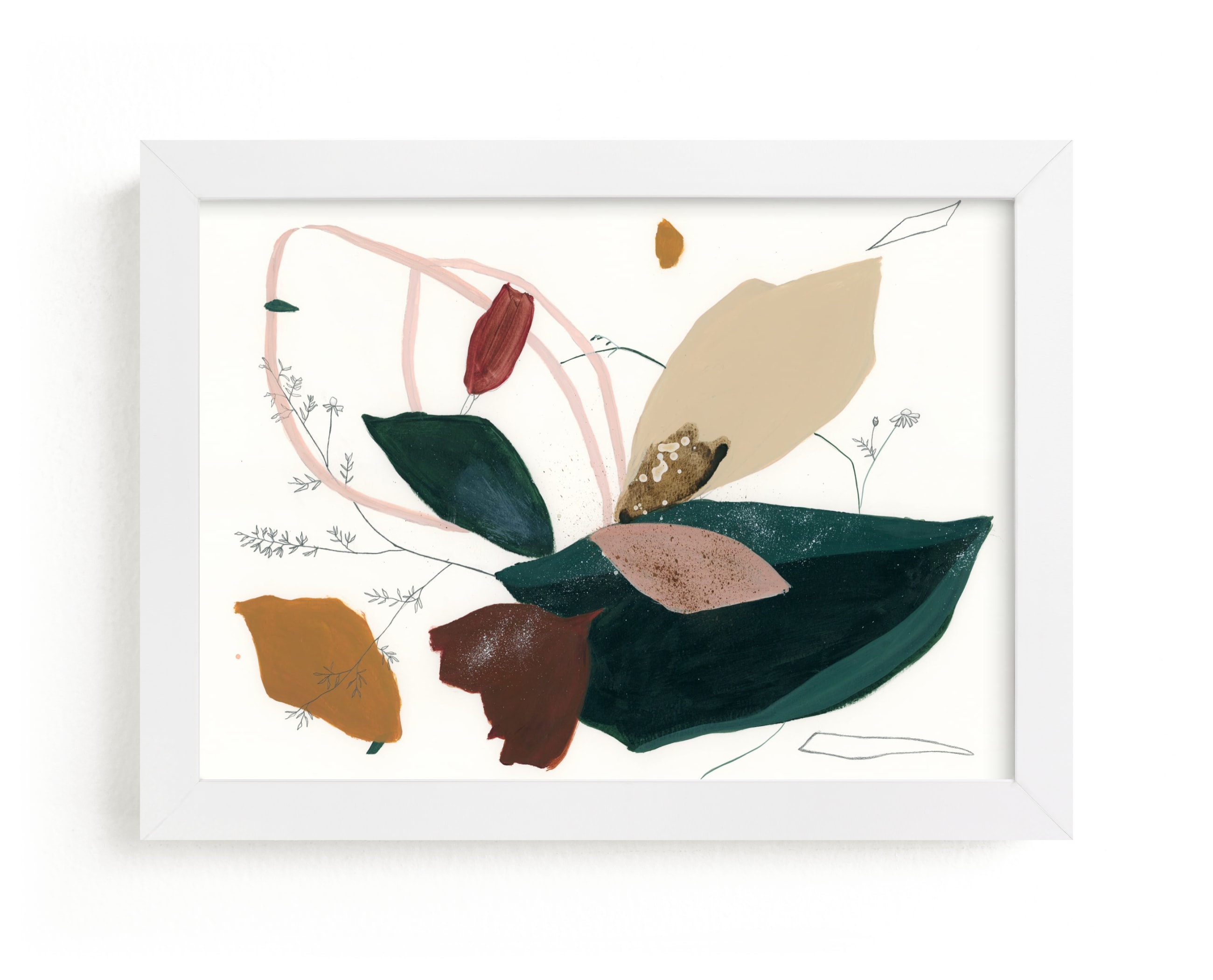 """""""I Wandered in the Forest"""" - Limited Edition Art Print by Sarah McInroe in beautiful frame options and a variety of sizes."""