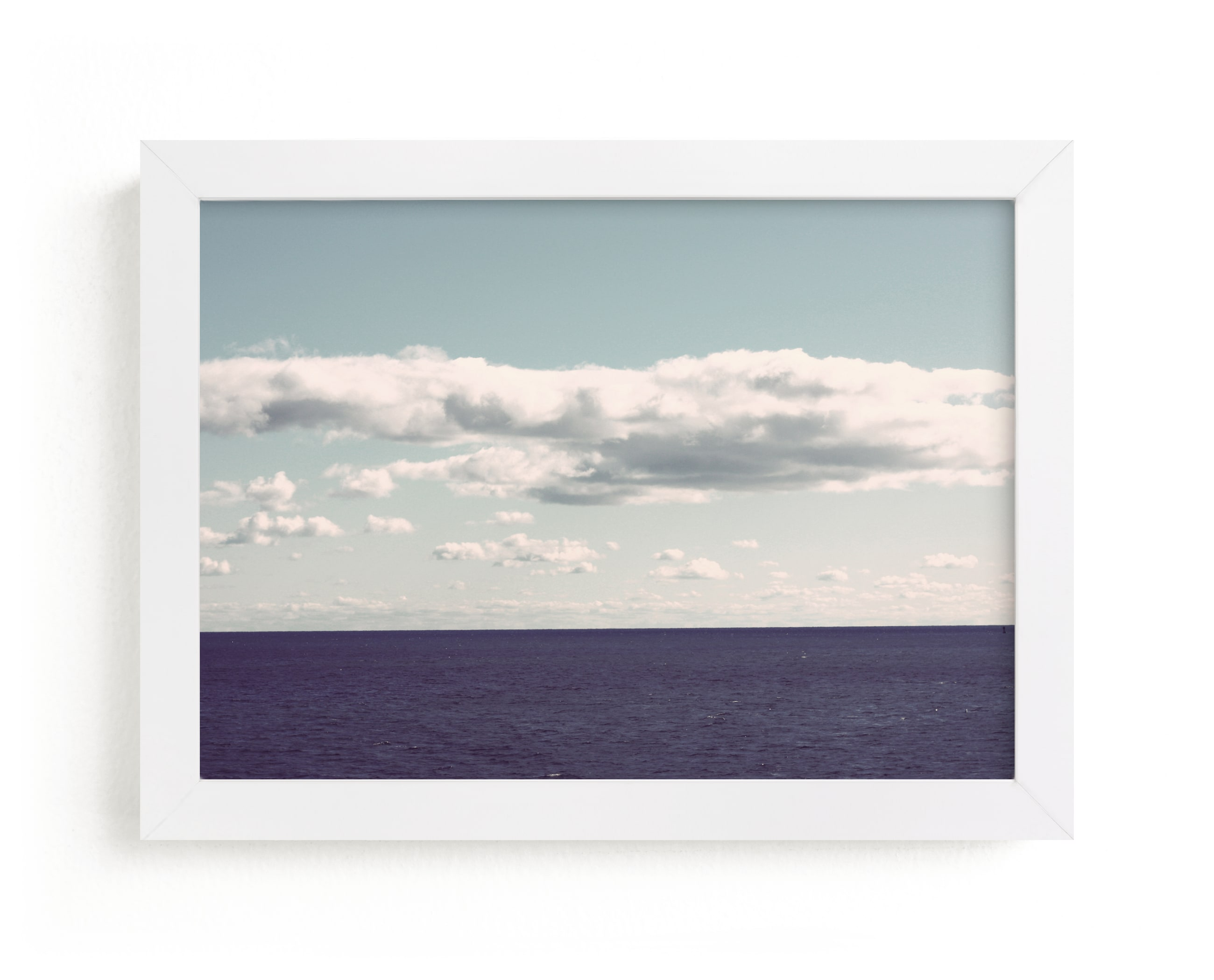 """""""The Calm Sea"""" - Limited Edition Art Print by Gray Star Design in beautiful frame options and a variety of sizes."""