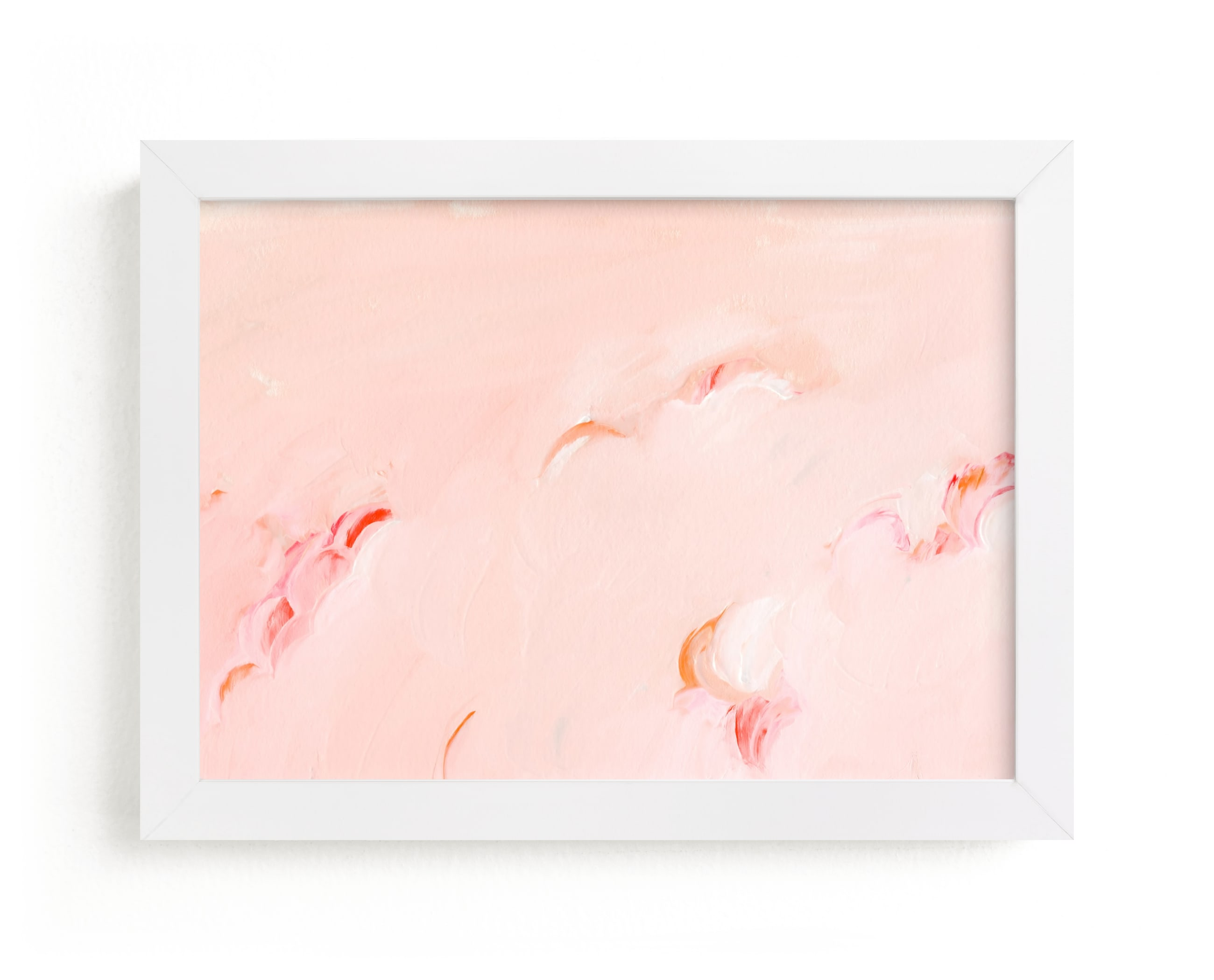 """""""Pink clouds"""" - Limited Edition Art Print by Lucrecia in beautiful frame options and a variety of sizes."""