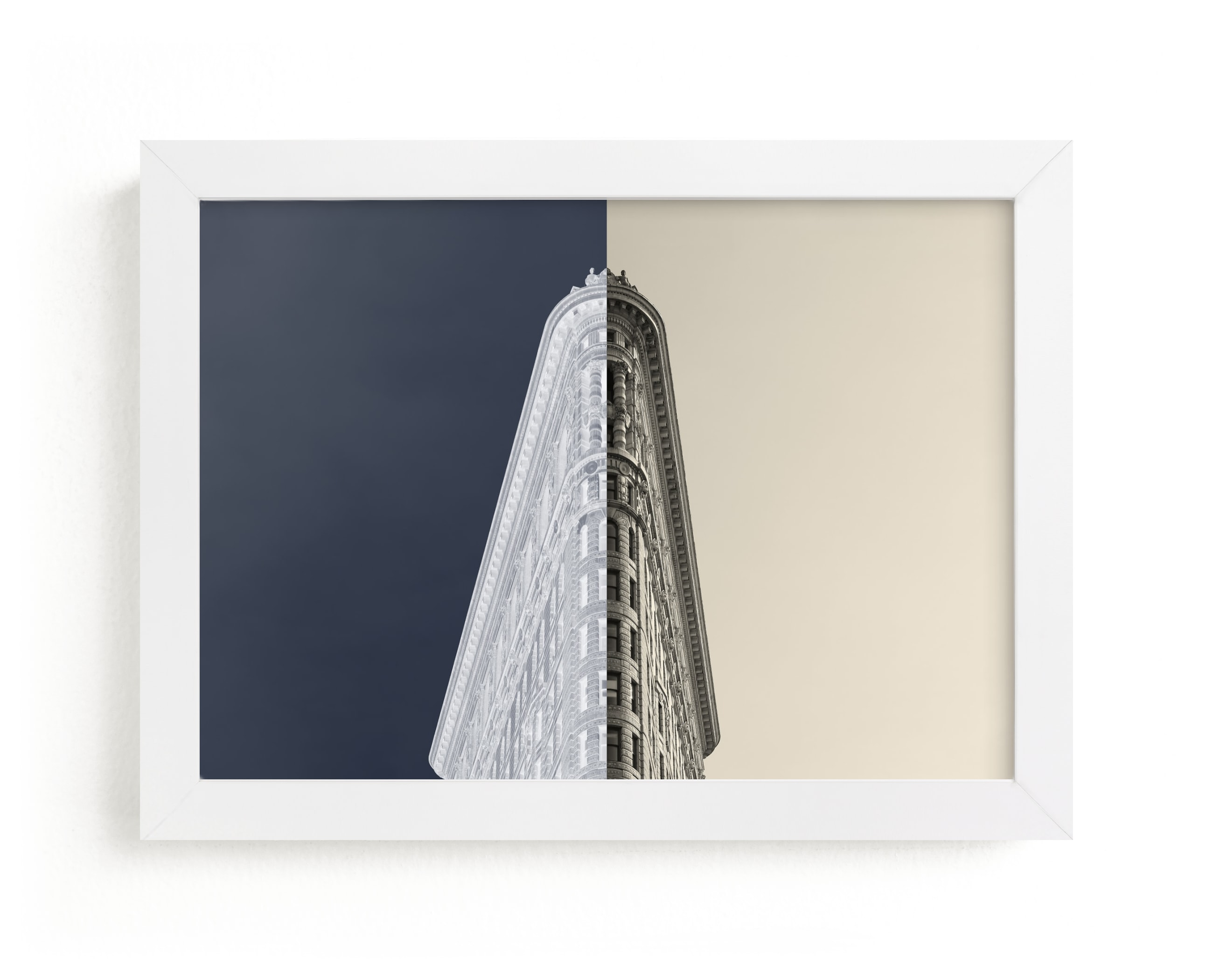 """""""Negative Space: New York Flatiron I"""" - Limited Edition Art Print by Jessica C. Nugent in beautiful frame options and a variety of sizes."""