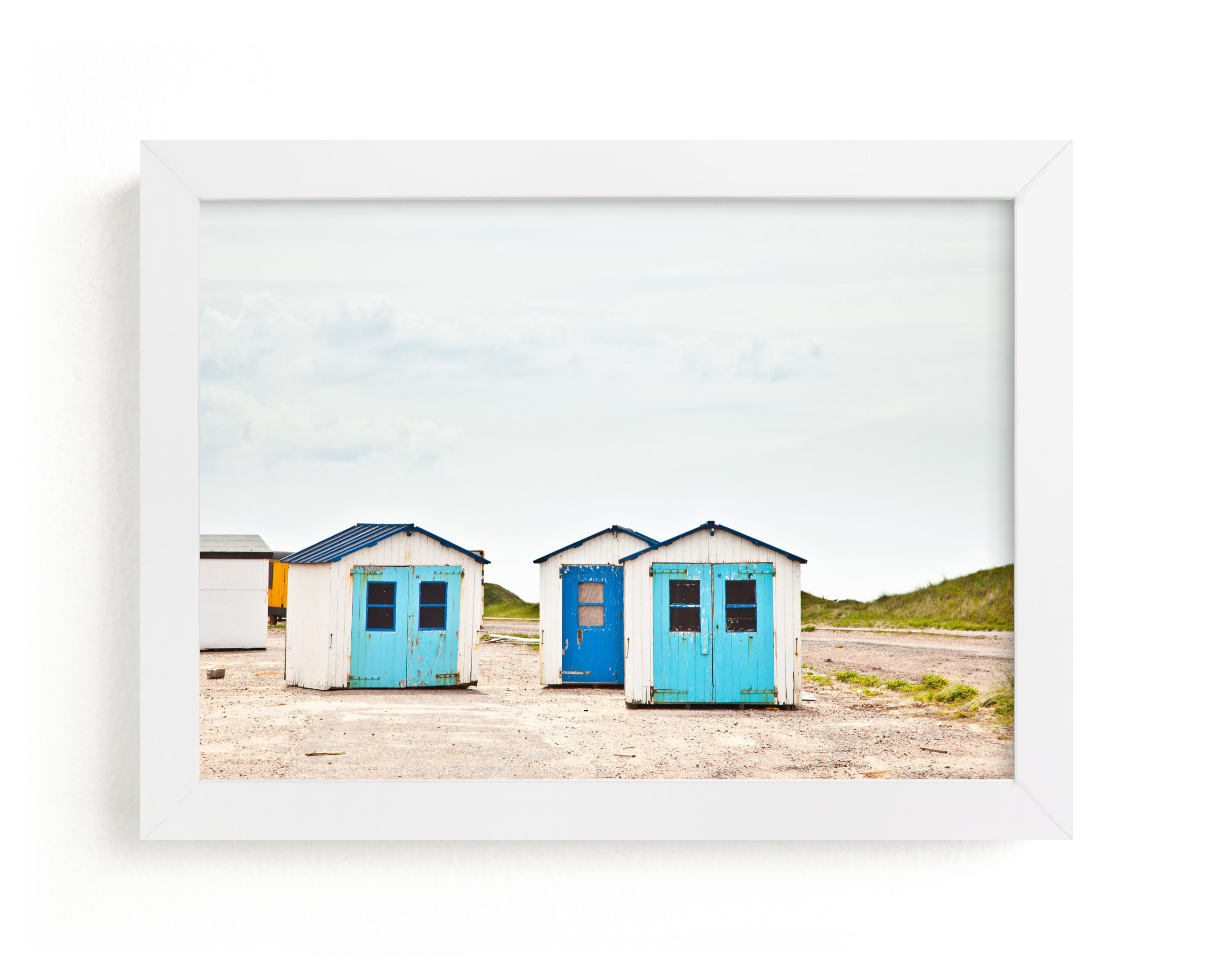 """""""Three Houses"""" - Limited Edition Art Print by Alexandra Feo in beautiful frame options and a variety of sizes."""