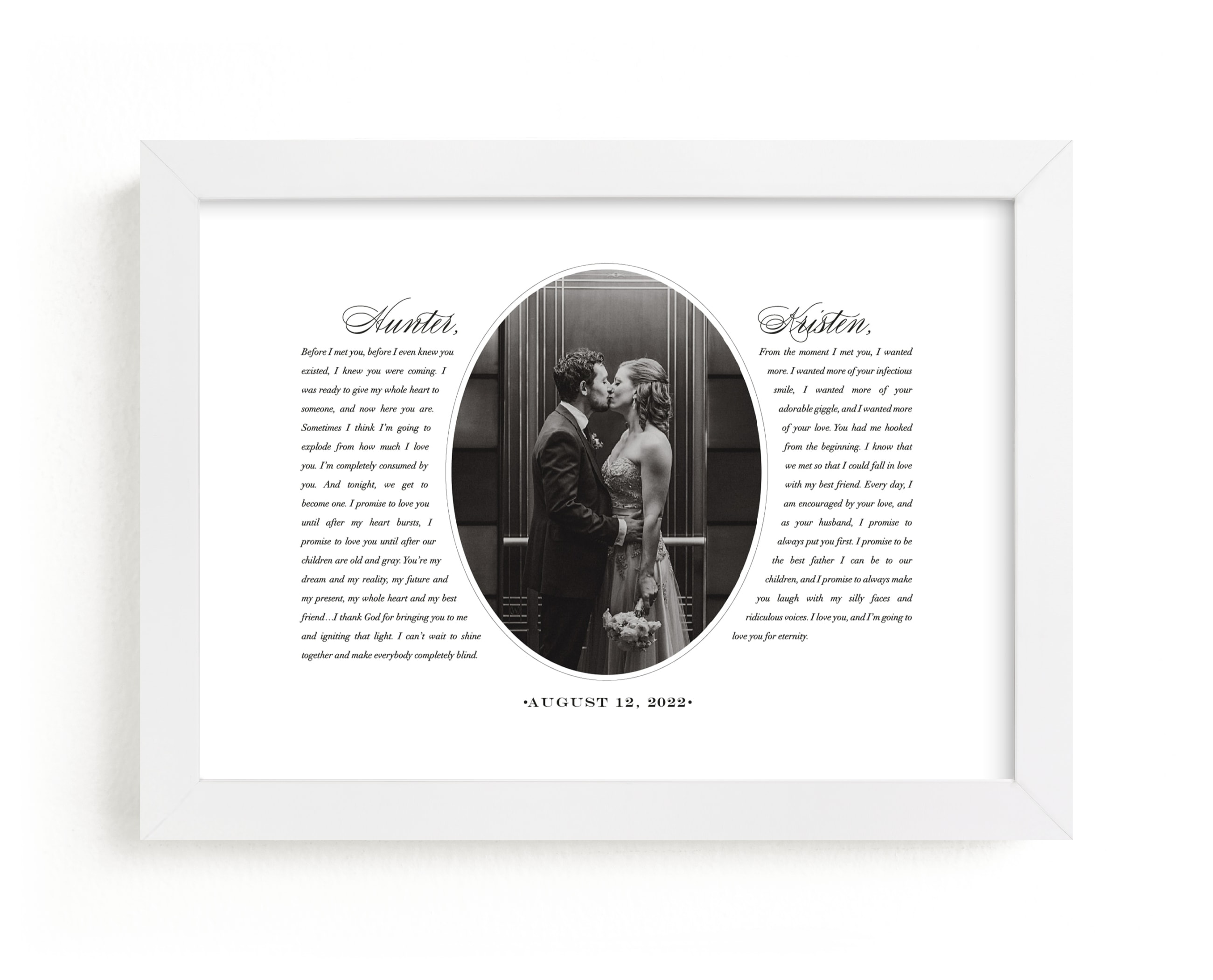 """""""Our Vows"""" - Custom Photo Art Print by Sarah Curry in beautiful frame options and a variety of sizes."""