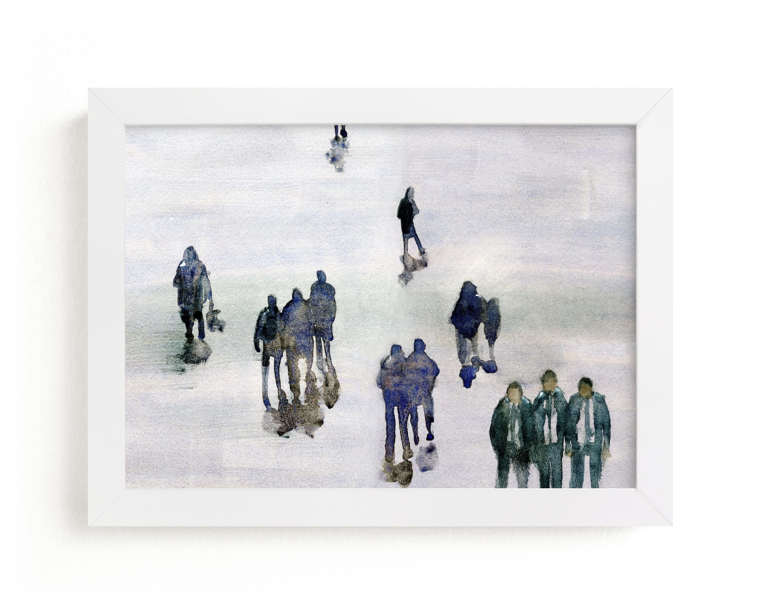 """""""In the crowd"""" - Limited Edition Art Print by Lulaloo in beautiful frame options and a variety of sizes."""