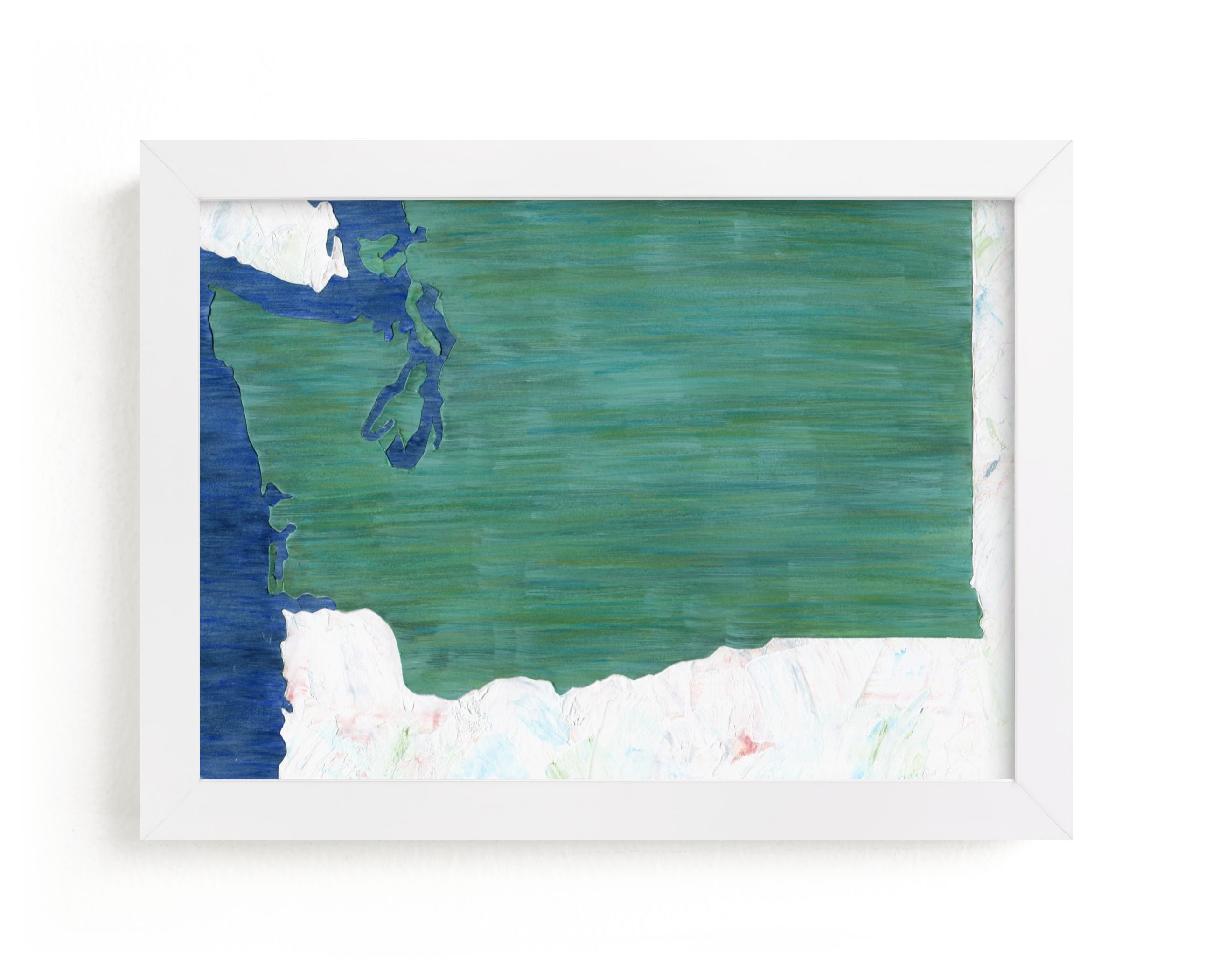 """""""Washington in Paint"""" - Limited Edition Art Print by Denise Wong in beautiful frame options and a variety of sizes."""