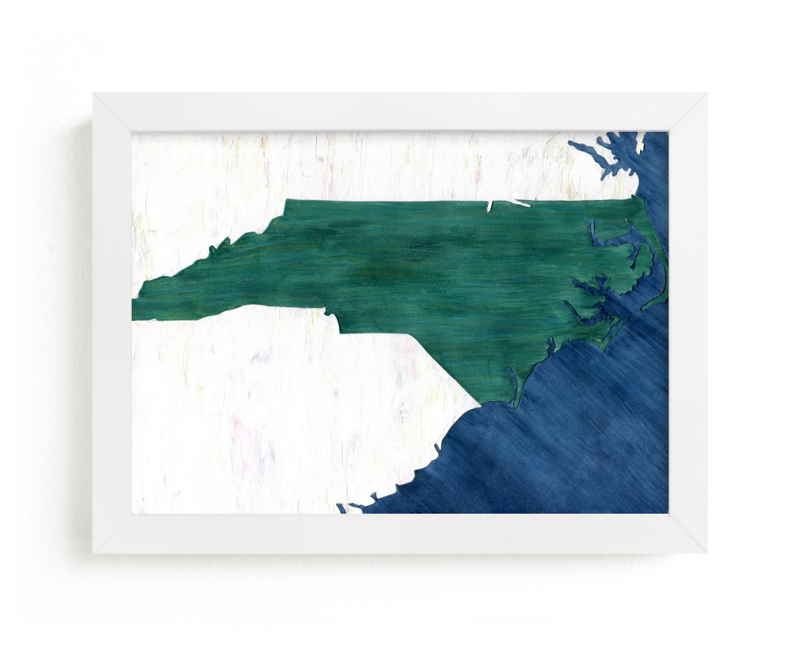 """""""North Carolina in Paint"""" - Limited Edition Art Print by Denise Wong in beautiful frame options and a variety of sizes."""