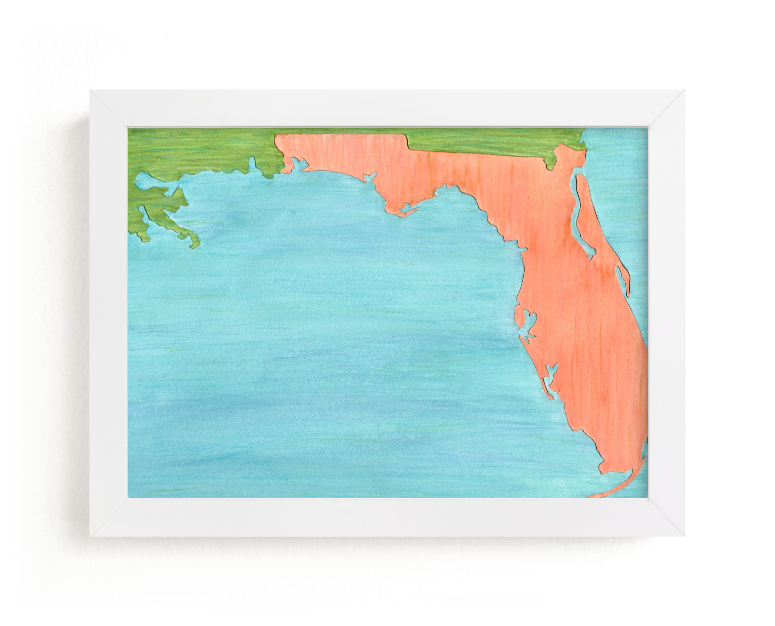 """""""Florida in Paint"""" - Limited Edition Art Print by Denise Wong in beautiful frame options and a variety of sizes."""