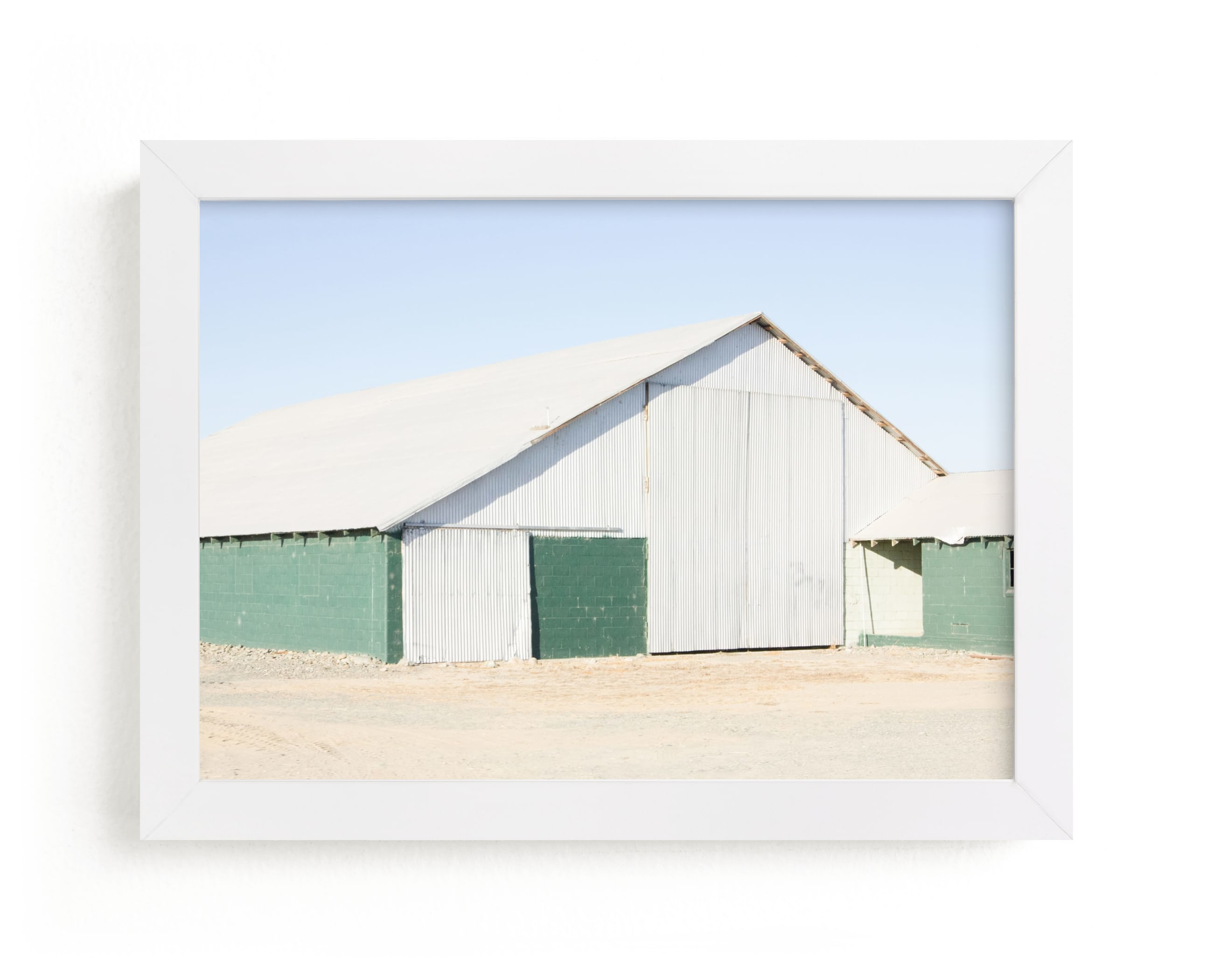 """""""Green Barn"""" - Limited Edition Art Print by Alex Elko Design in beautiful frame options and a variety of sizes."""