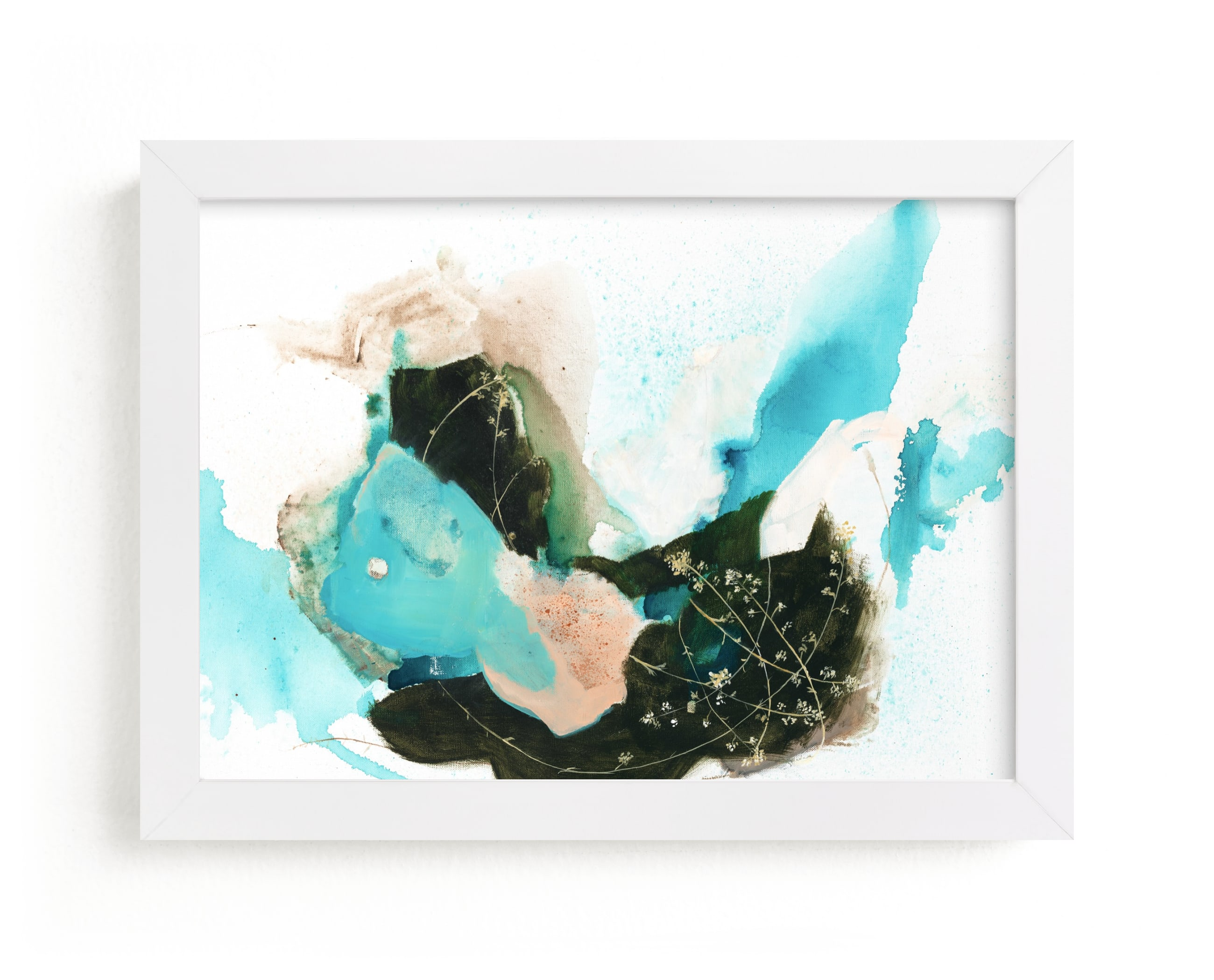 """""""Flora in Motion"""" - Limited Edition Art Print by Sarah McInroe in beautiful frame options and a variety of sizes."""