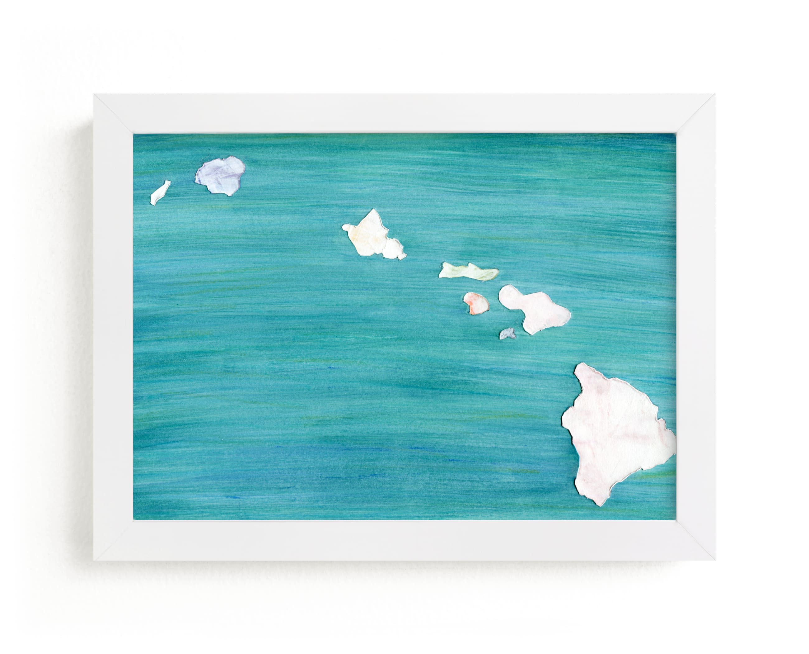 """""""Hawaii in Paint"""" - Limited Edition Art Print by Denise Wong in beautiful frame options and a variety of sizes."""