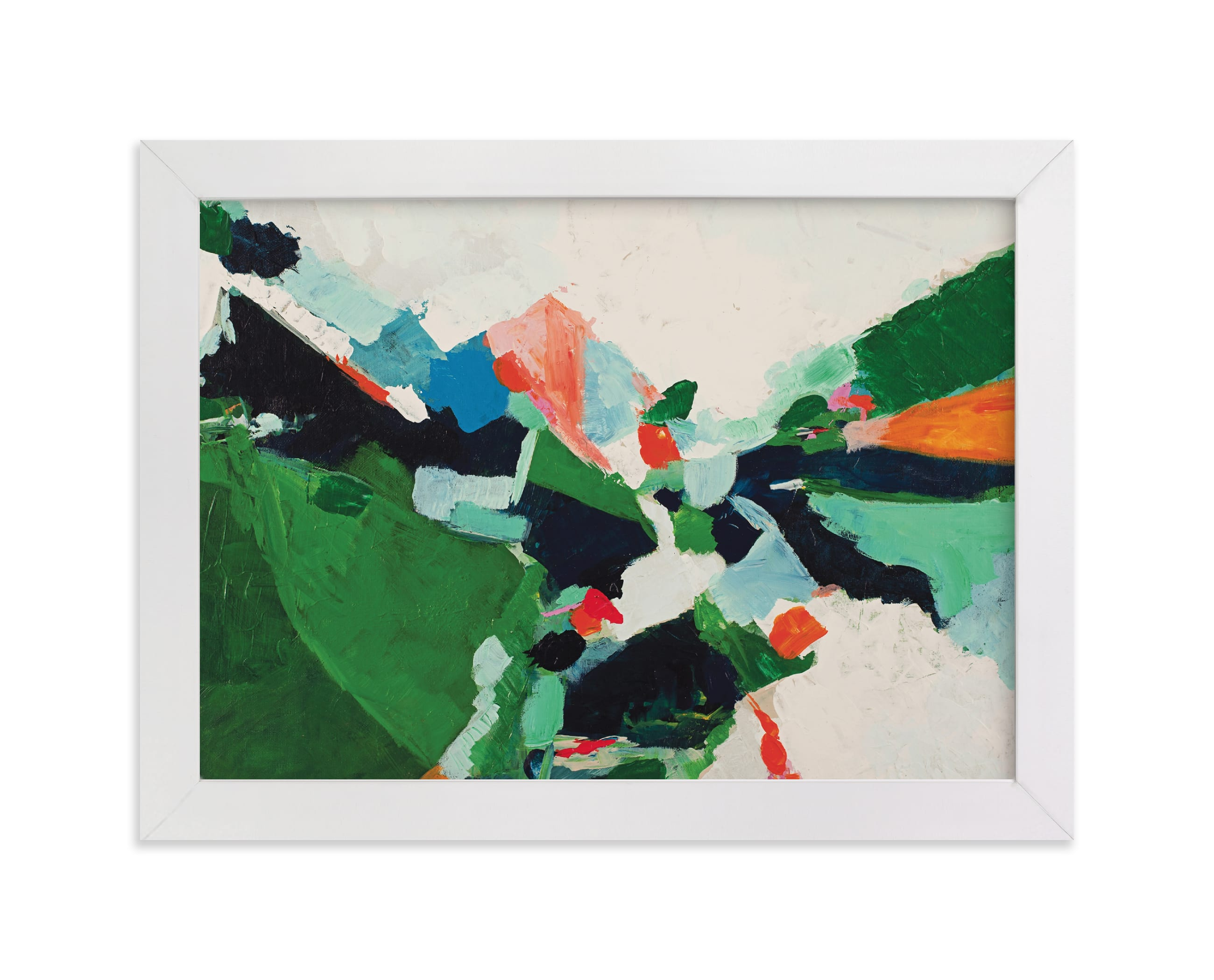 """""""Colorful Abstract Landscape"""" - Limited Edition Art Print by Caryn Owen in beautiful frame options and a variety of sizes."""