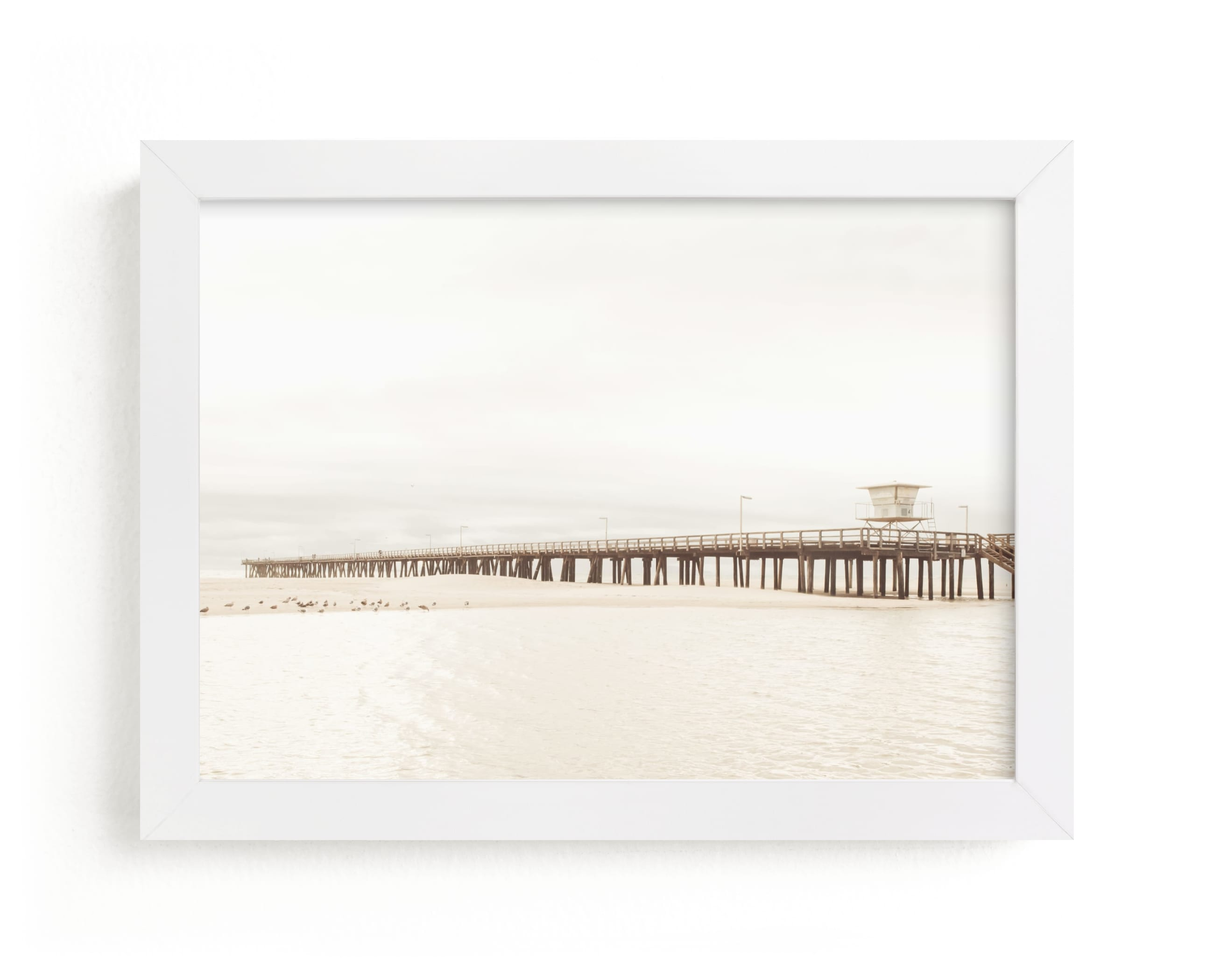 """Stormy Pier"" - Limited Edition Art Print by Kamala Nahas in beautiful frame options and a variety of sizes."