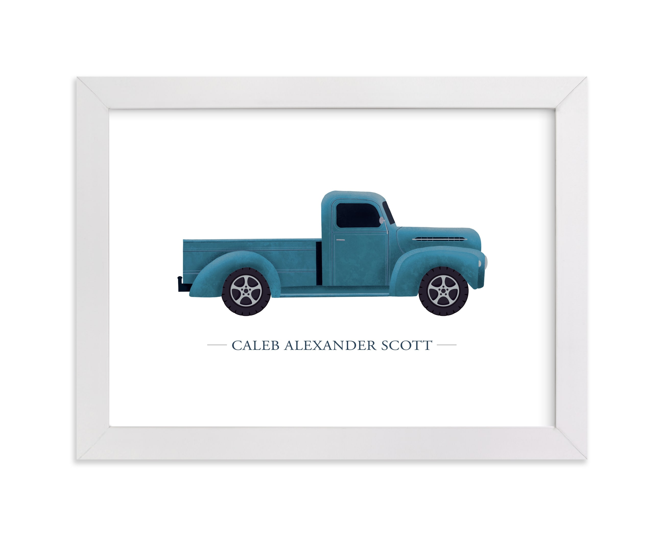 """Old American Truck"" - Children's Custom Art Print by Rebecca Humphreys in beautiful frame options and a variety of sizes."