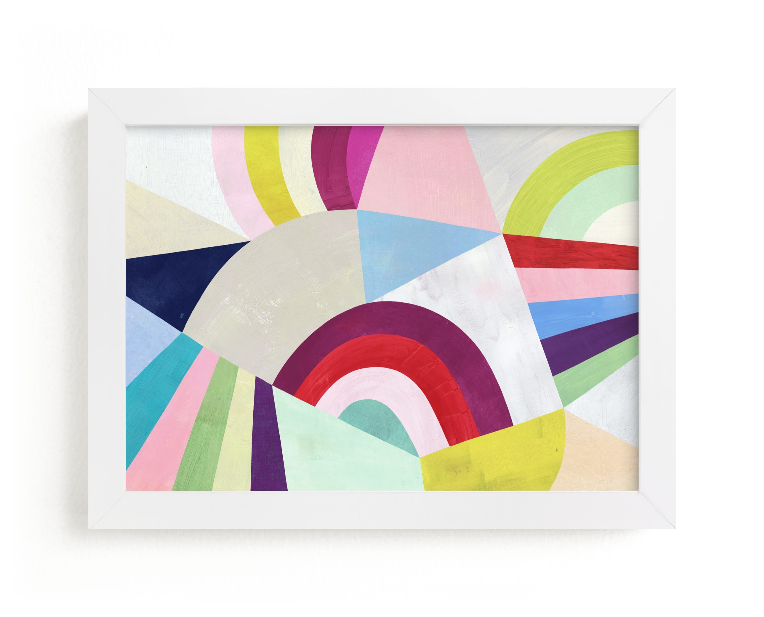"""""""Geometric Play"""" - Limited Edition Art Print by melanie mikecz in beautiful frame options and a variety of sizes."""