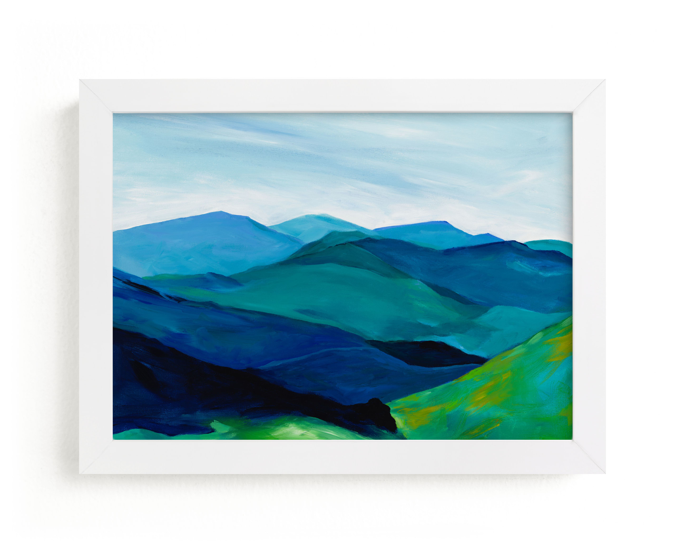 """Enchanted Vista"" - Limited Edition Art Print by Jenny Partrite in beautiful frame options and a variety of sizes."